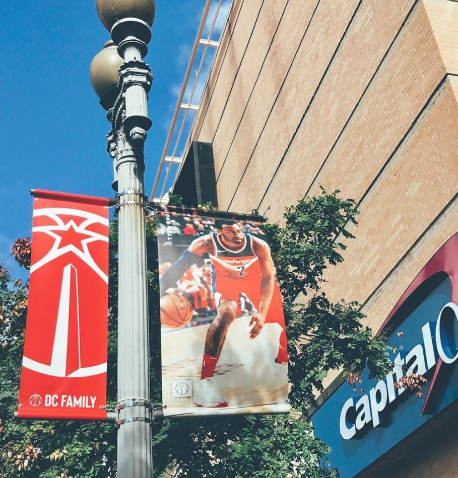 Capital One Arena Flag Pole Banner Series