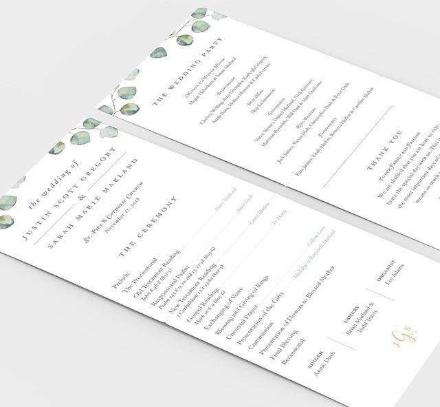 simple, elegant wedding programs for sarah + justin's GORGEOUS day ✨ #designedwithlove . . . . . #engagement #justengaged #newlyengaged #bridetobe2020 #realwedding #realbride #weddinginvitations #weddingstationerydesign #dcwedding #baltimorebride #weddingstationary #invitationsuite #stationerydesign #stationaryaddict #weddinginvites #stationerysuite #handletteringlove #typography #stylewedding #bridesstyle #marylandwedding #weddingpaper #modernbride #modernwedding  #annapoliswedding #baltimorewedding #bridesofinstagram #theknotpro #weddingwire