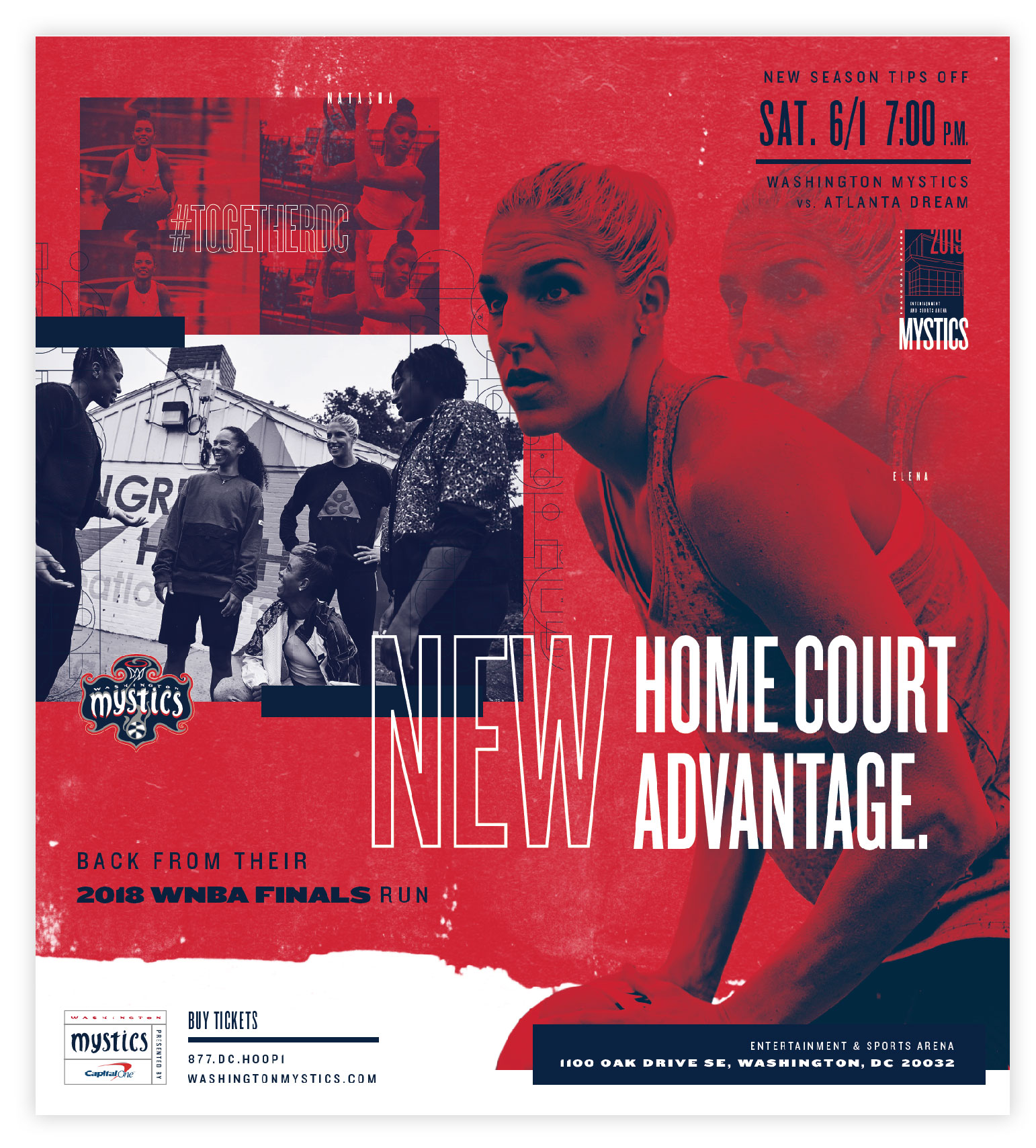Washington Post Full Page Ad for the Mystics Home Opener