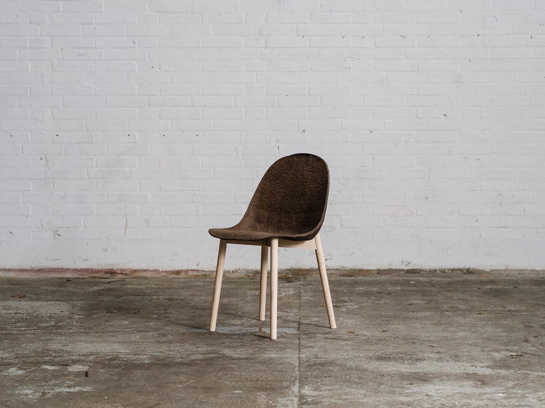 Chair made of Seaweed and Paper by Jonas Edvard and Nikolaj Steenfatt