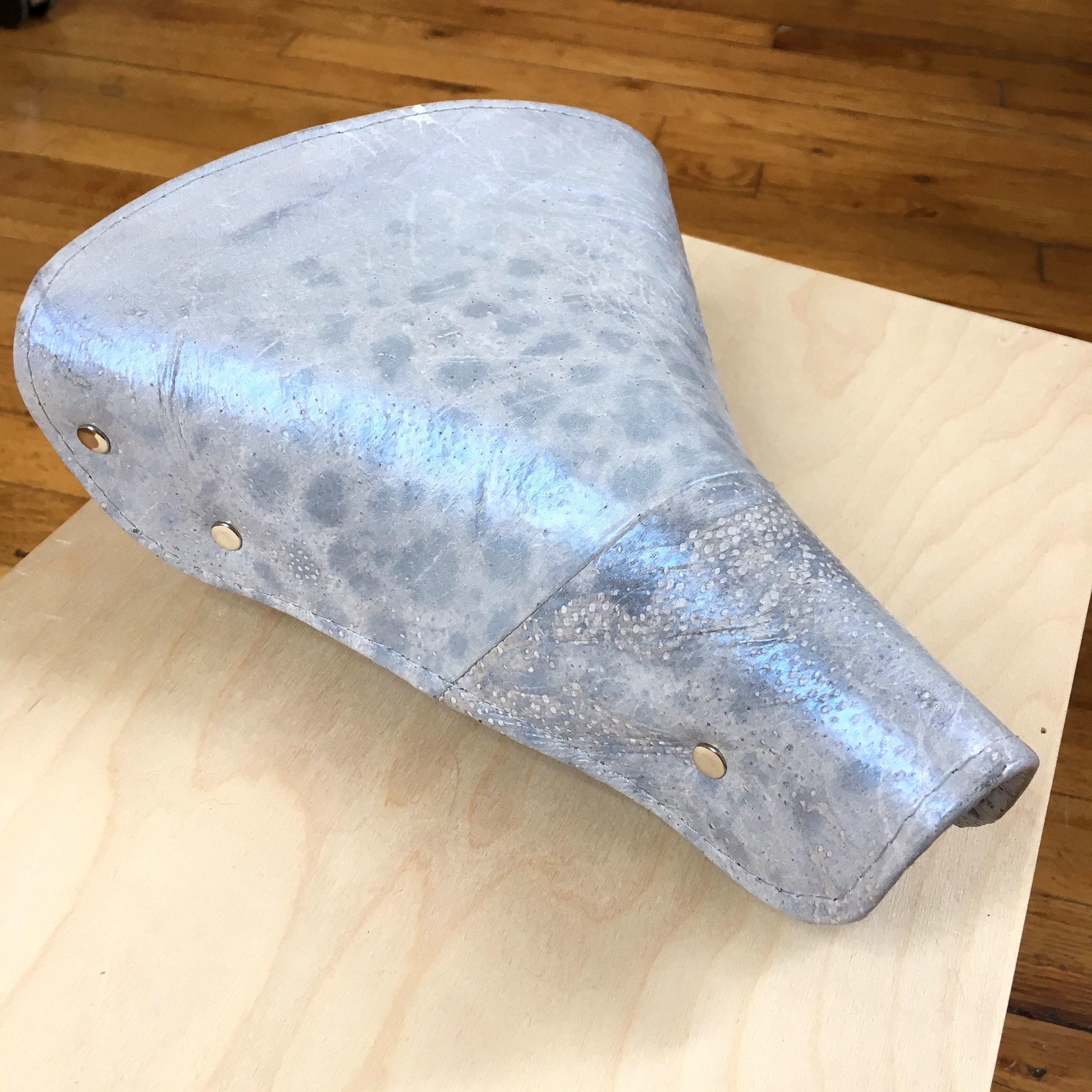 fish leather bike seat.JPG