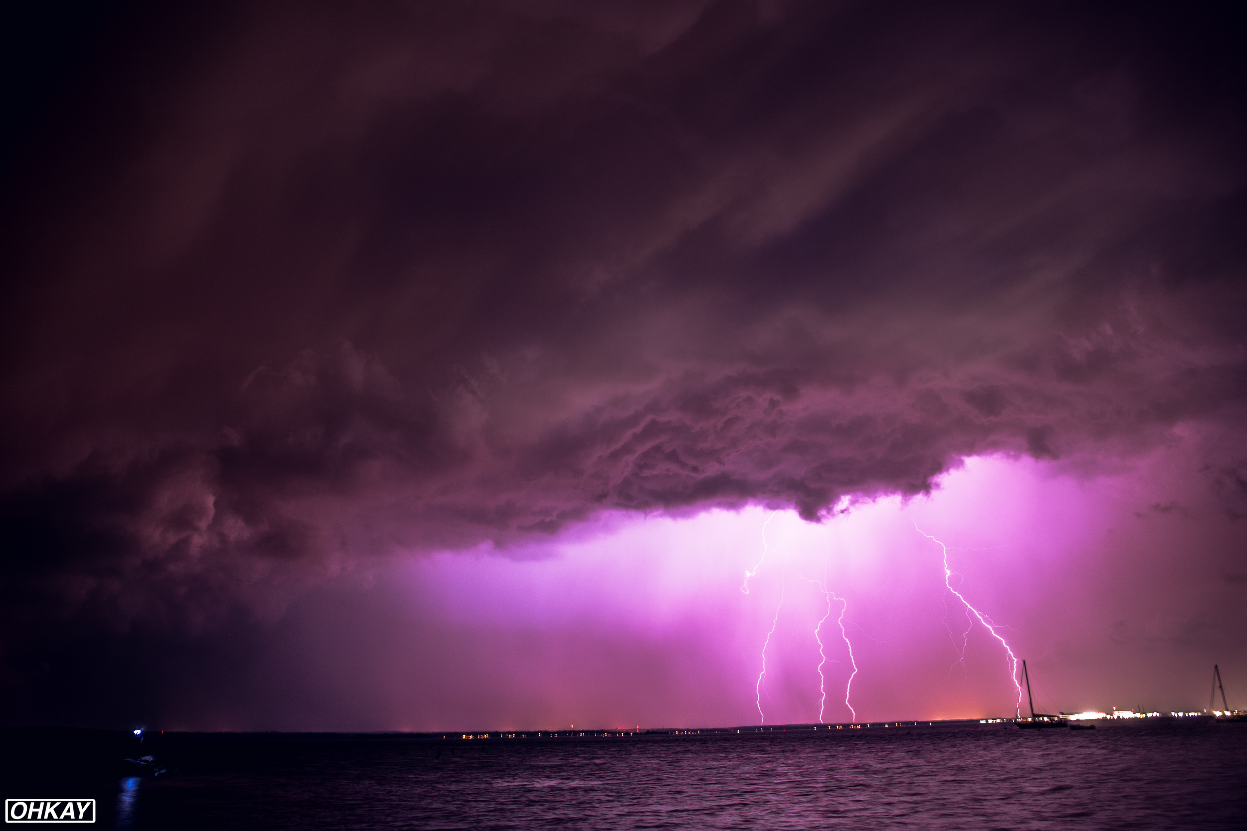 THIS CRAZY LIGHTNING STORM WE FOUND. CAMERAS STRAPPED. LONG EXPOSURES ON.
