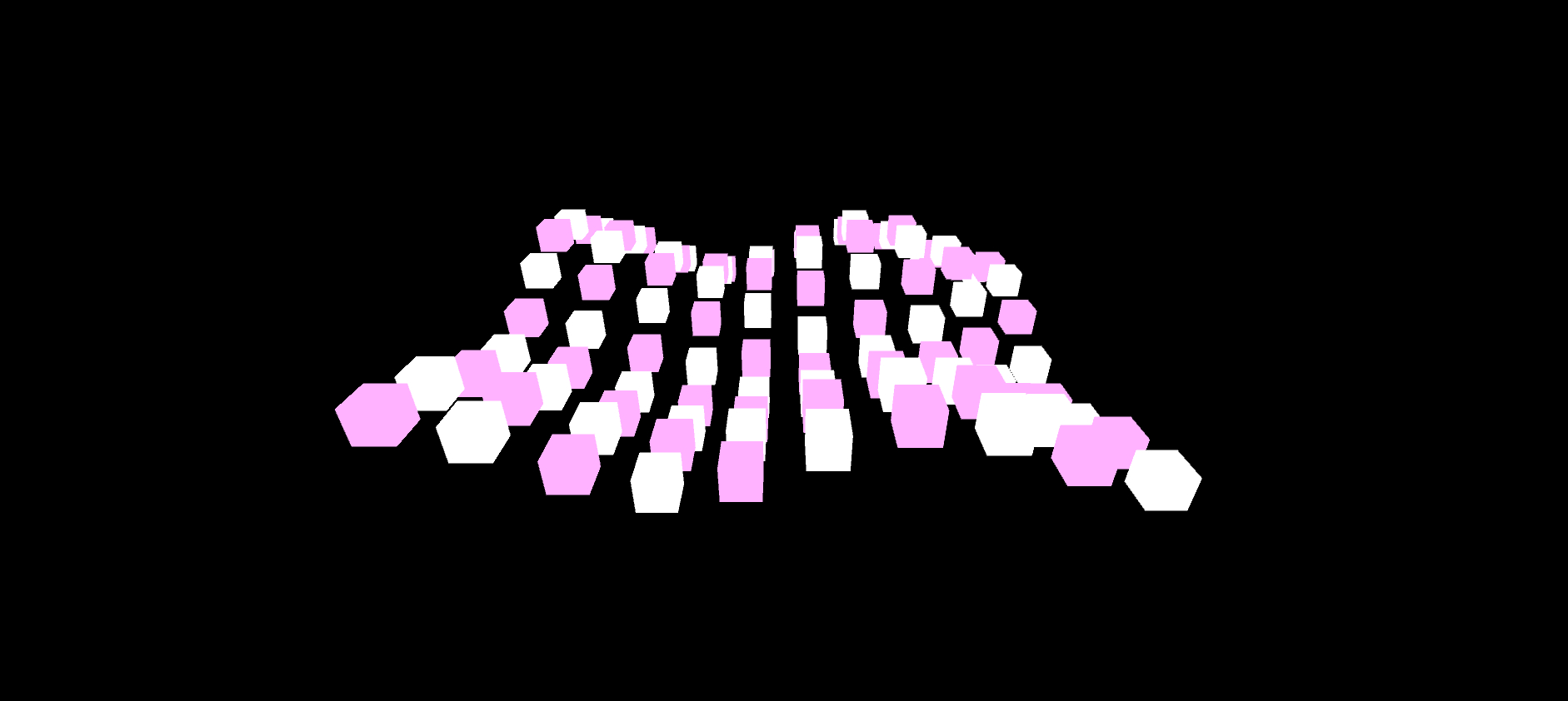 Another segmentation image where white cubes represent the default Layer and pink cubes are on Layer 3. The code provided supports both versions (just not at the same time).
