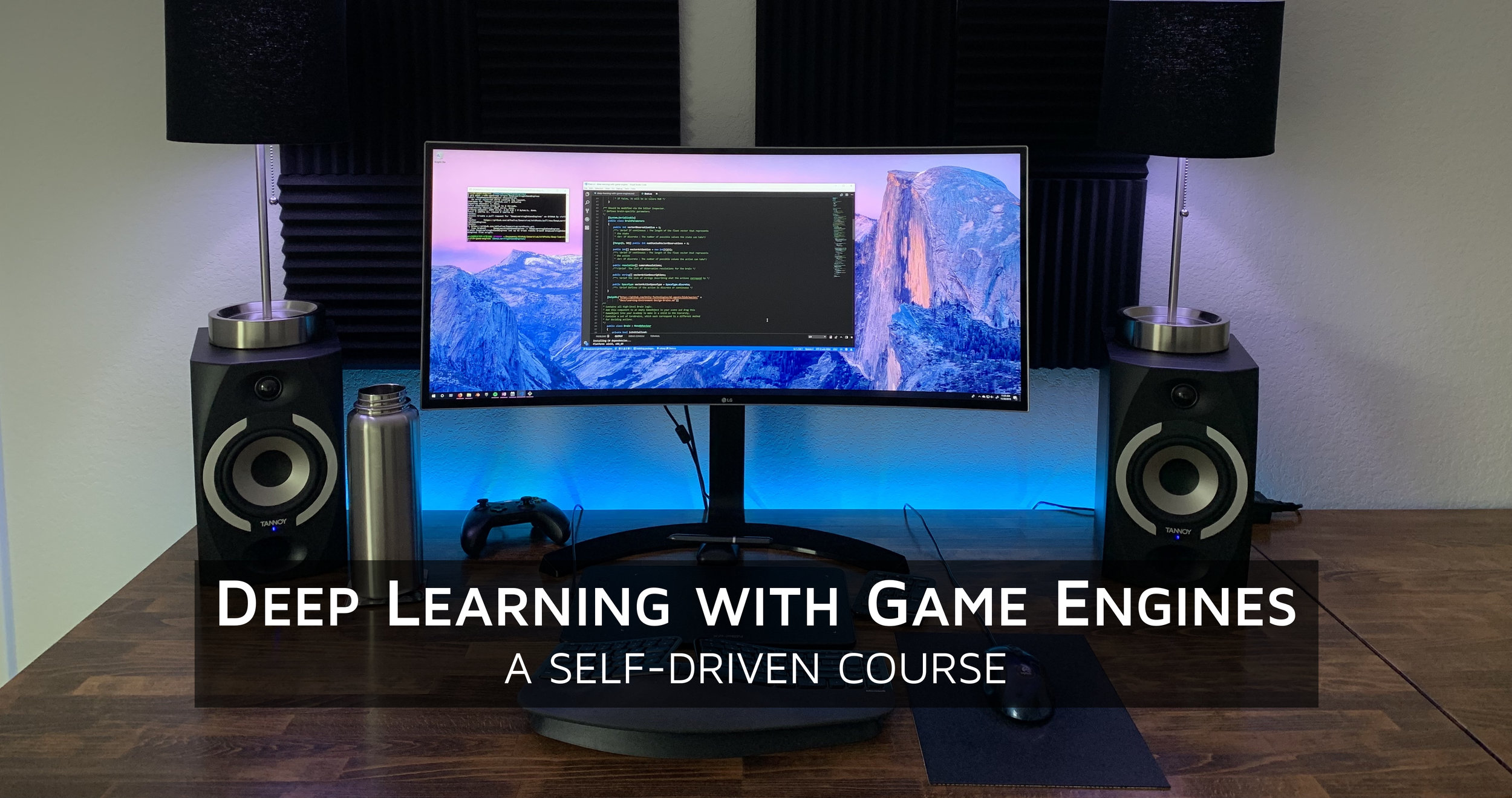 Deep Learning with Game Engines: A Self-Driven Course
