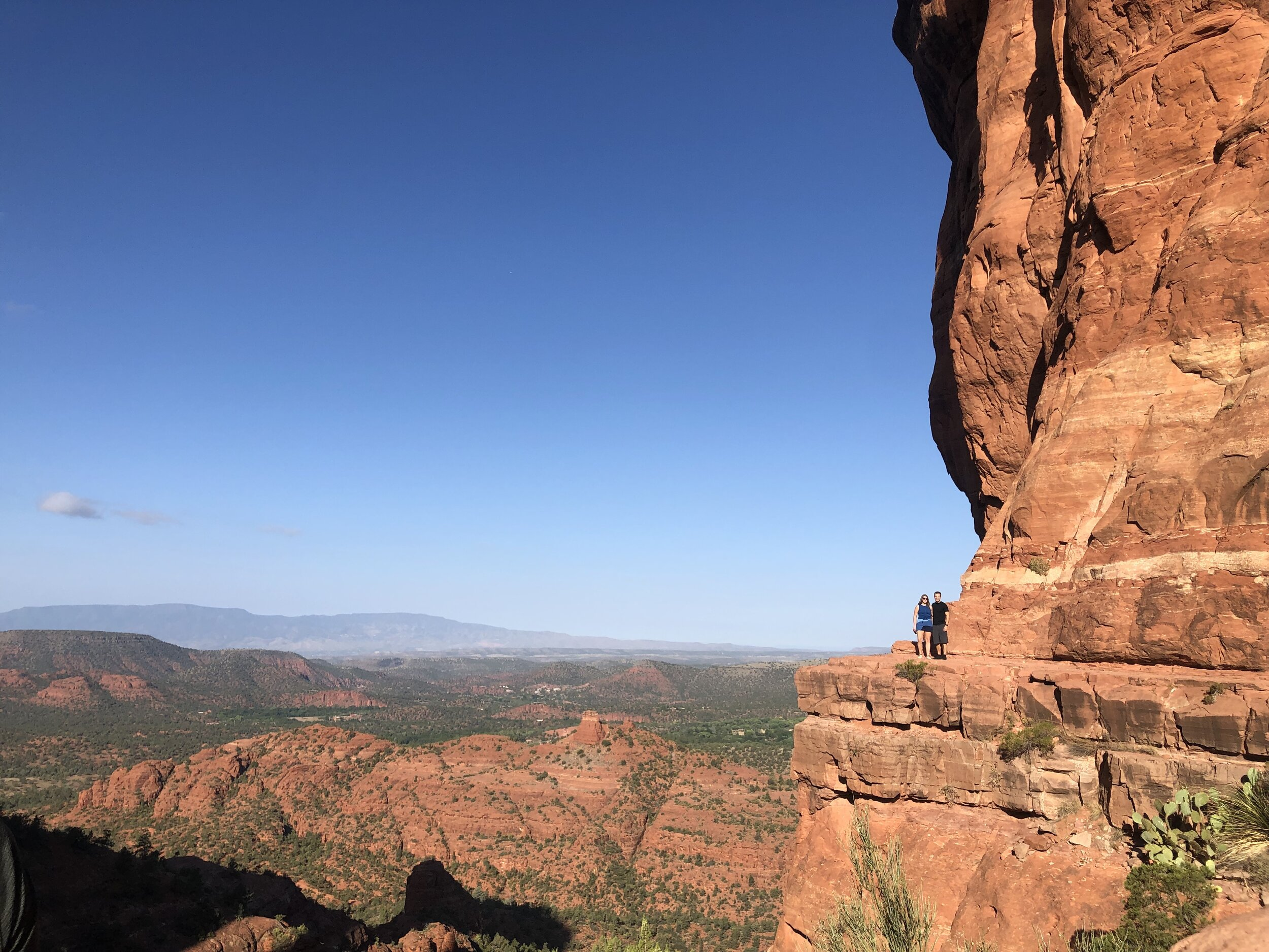 Kayla and I at the top of Cathedral Rock in Sedona, Arizona. The first big stop on our epic road trip.