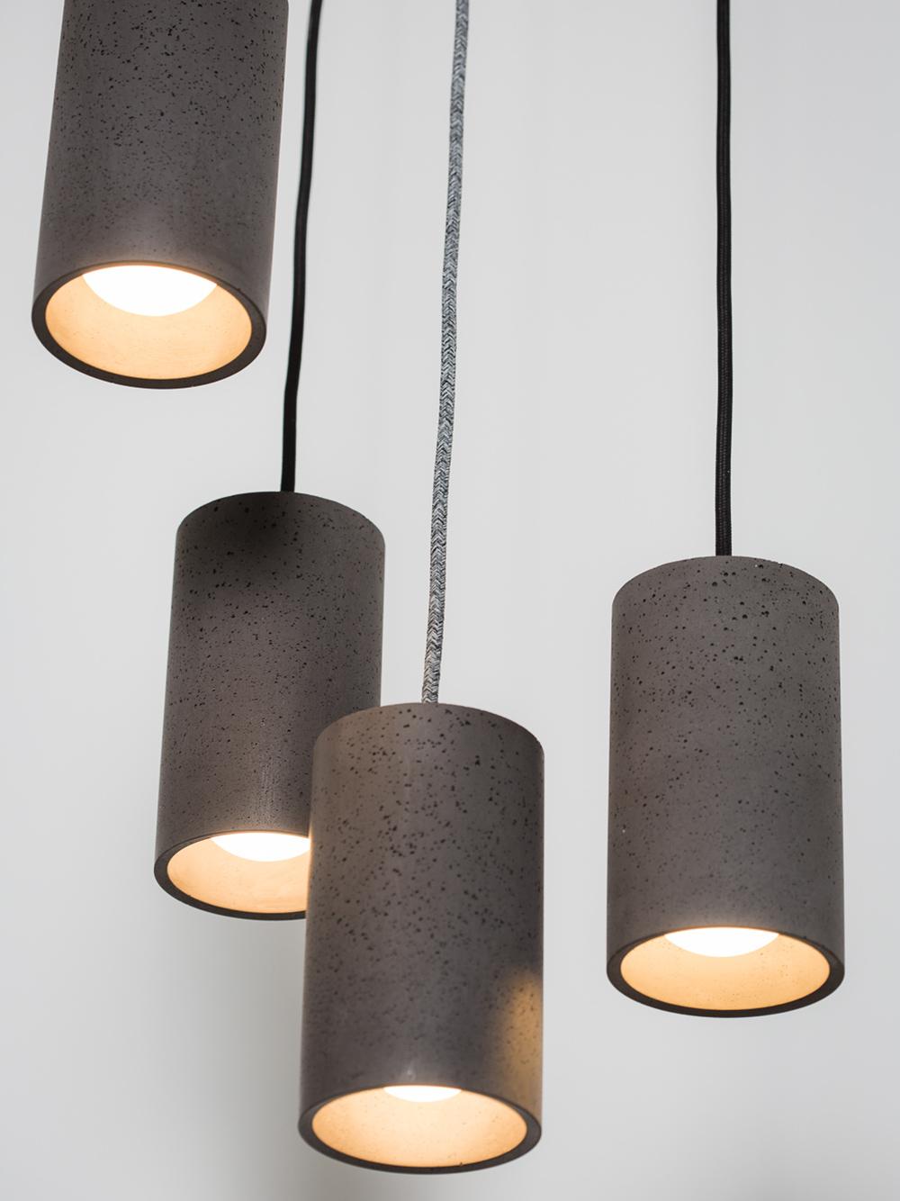 Toob Concrete Pendant Lights 50% Grey
