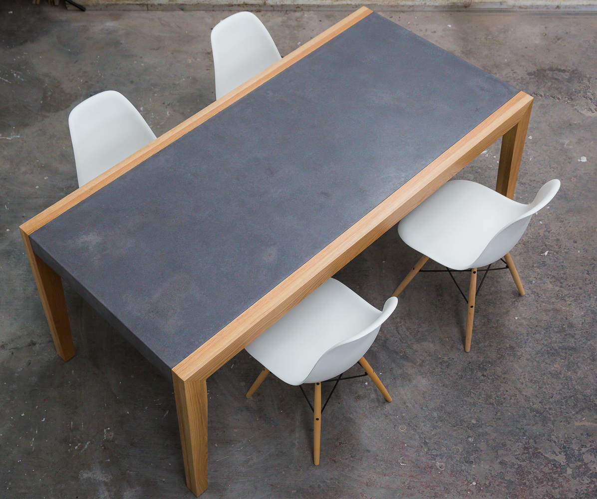 Pekka Timber and Concrete Dining Table - 6 Seat