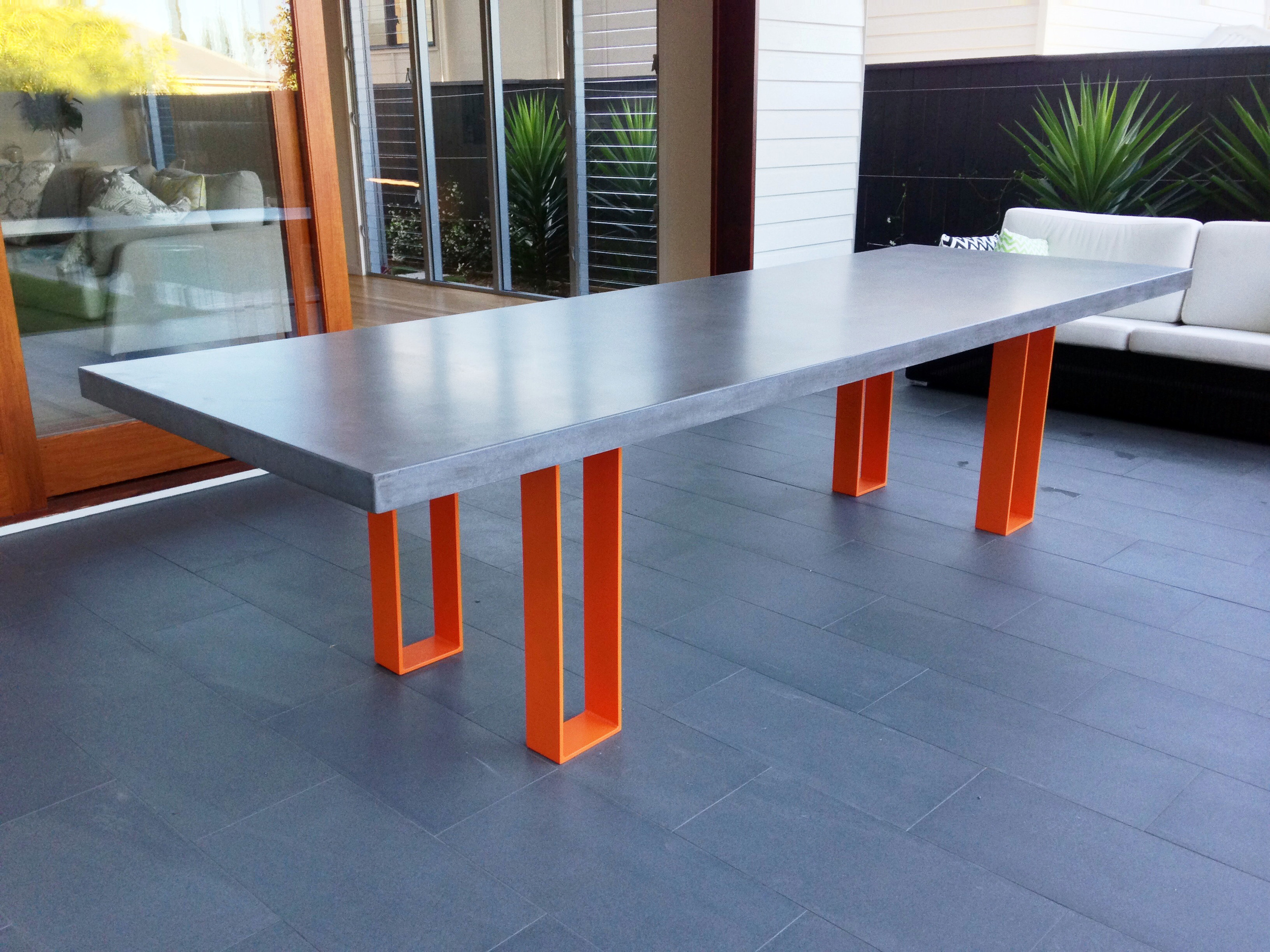 Tikko Concrete Dining Table - 12 Seat