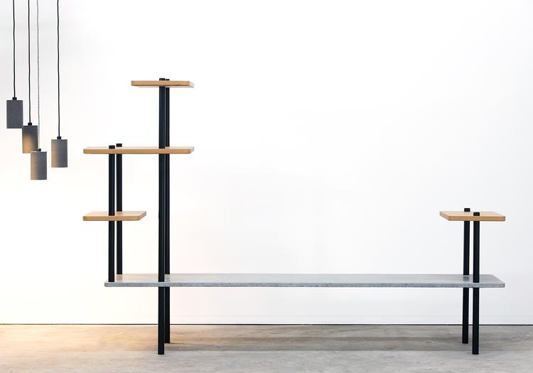 Concrete Furniture Pop Plus Leksa Timber Concrete Entertainment Unit