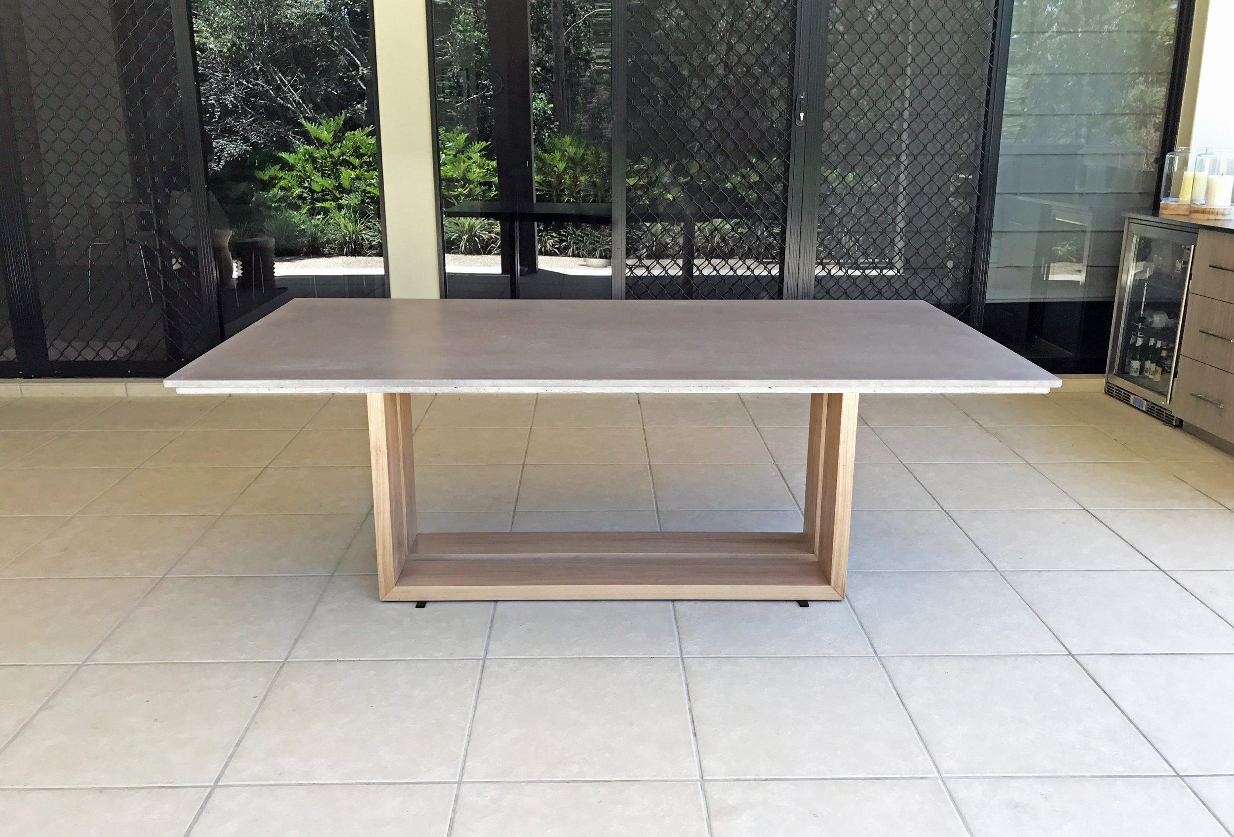 Rizzo Timber and Concrete Dining Table
