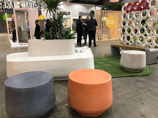 Pop Plus is at #denfair2019 Come by and see our new product @denfair ! #furnituredesign #concrete #interiordesign #architecture #design