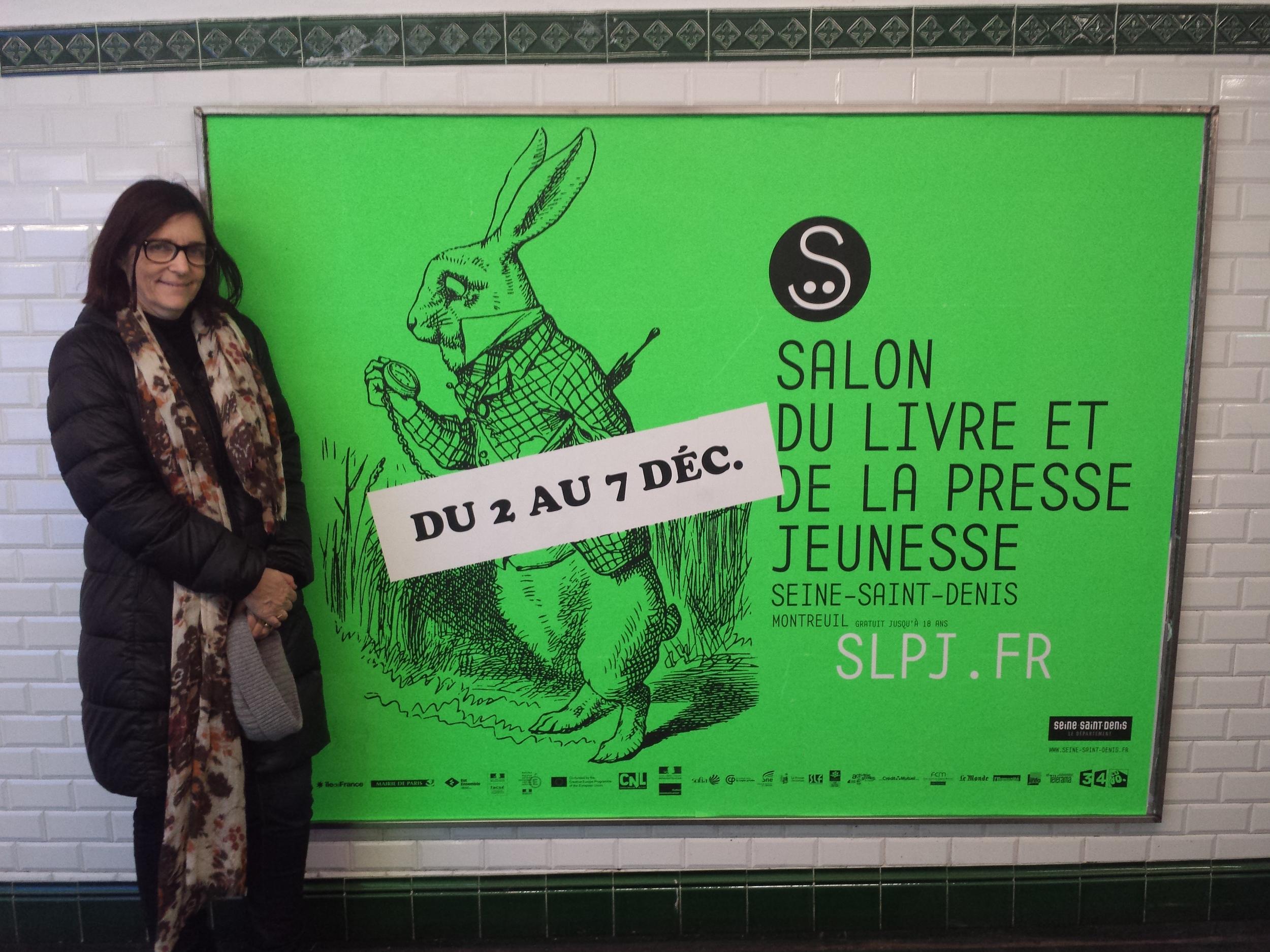 Author Ursula Dubosarsky, down the rabbit hole,aka the Paris Metro.