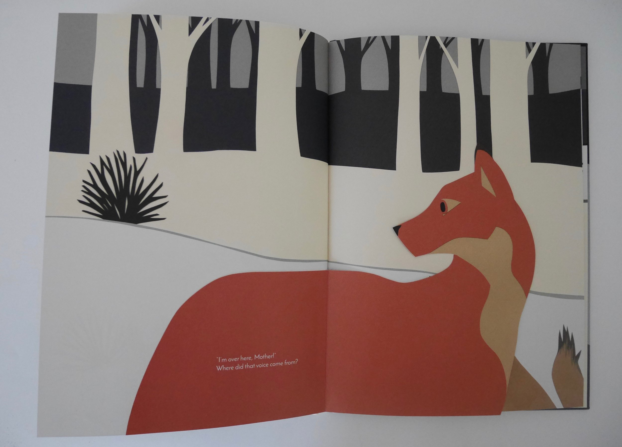 The page turns are an enormous part of the book's hide-and seek game.