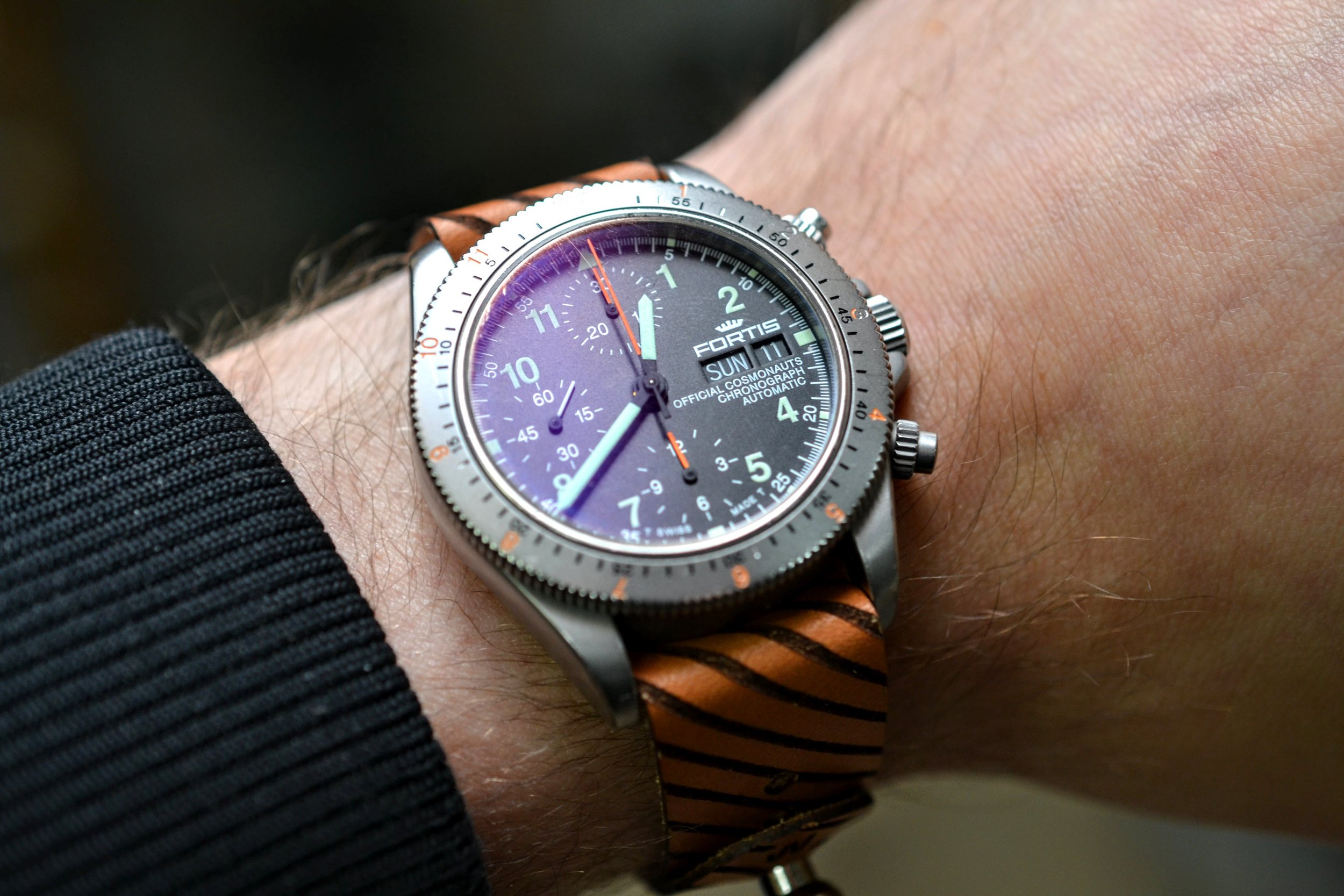 Hazard Stud Watch Strap - Natural Sun Dye