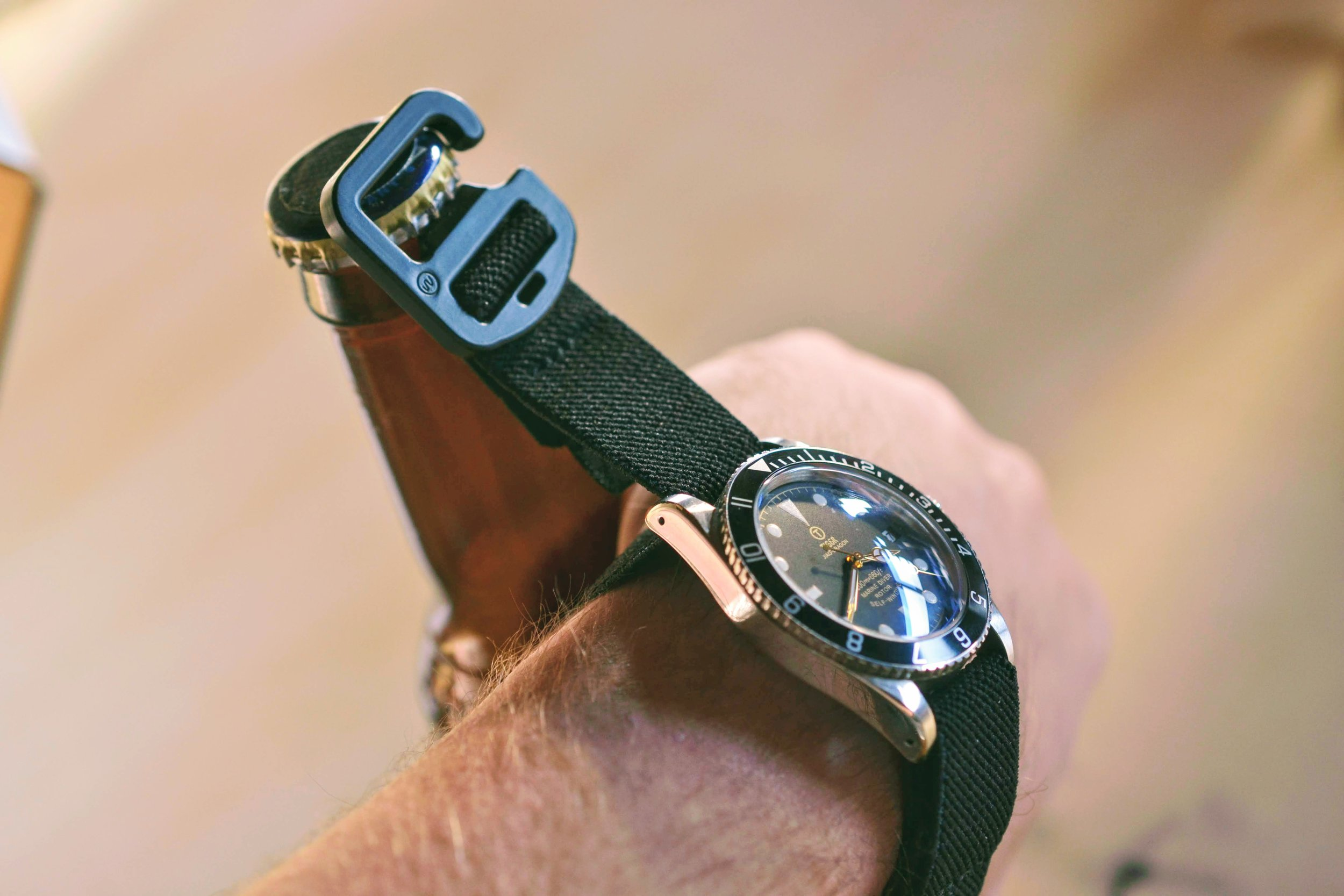 *NEW* The 2019 Updated Cap Strap v2.0  - Elastic Bottle Opener Watch Band