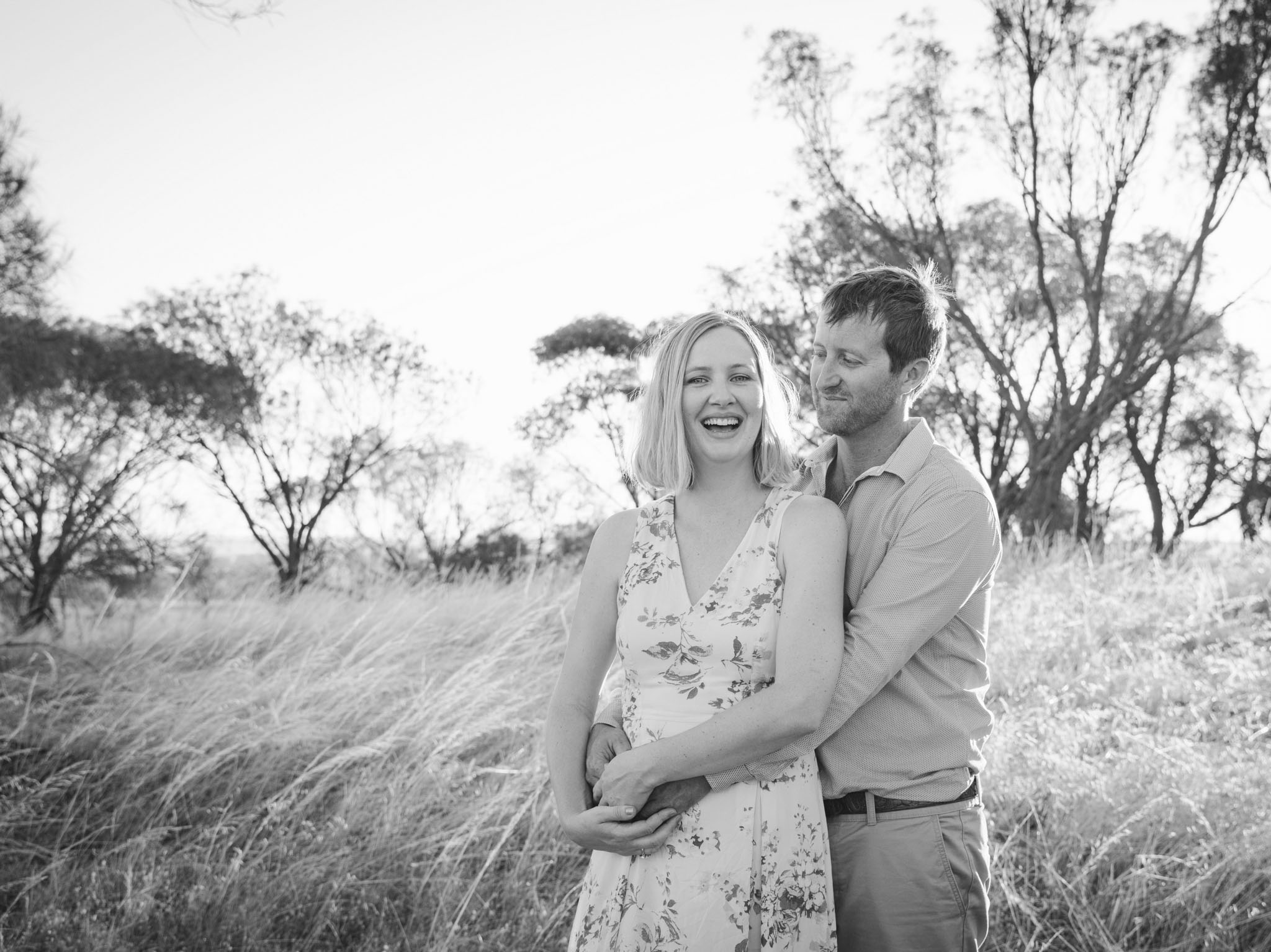 Couples engagement session on farm in the country in rural Northam Wheatbelt Avon Valley Western Australia