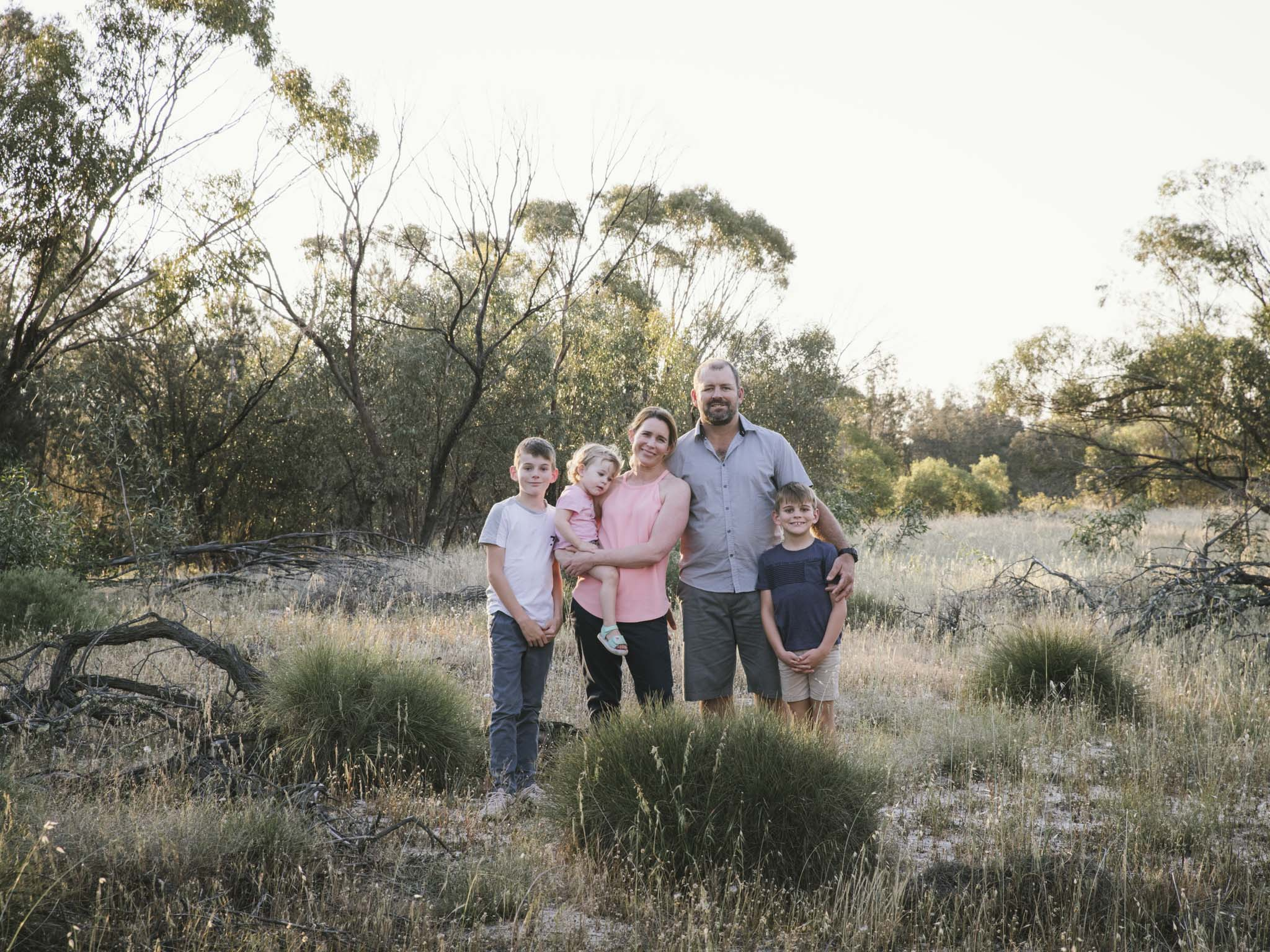 Farm family lifestyle photography session in the bush in country rural Western Australia
