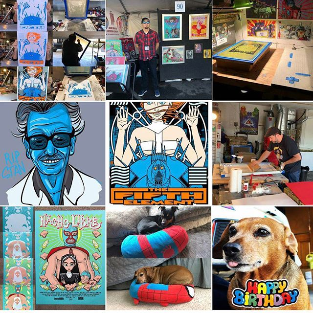Puppies and posters, it's been a great year! #topnine2018