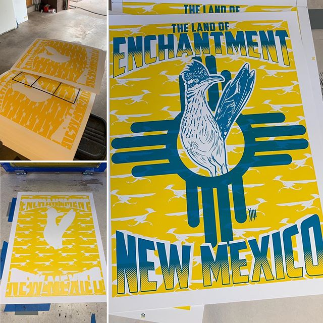 Gearing up for Contemporary Hispanic Market! Here's a new colorway on this older print. #newmexico #contemporaryhispanicmarket