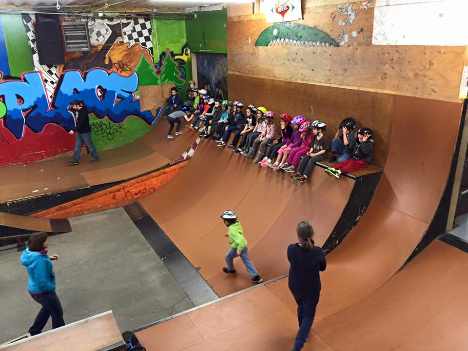 Students from Watershed Charter School enjoying a field trip at the skate park!