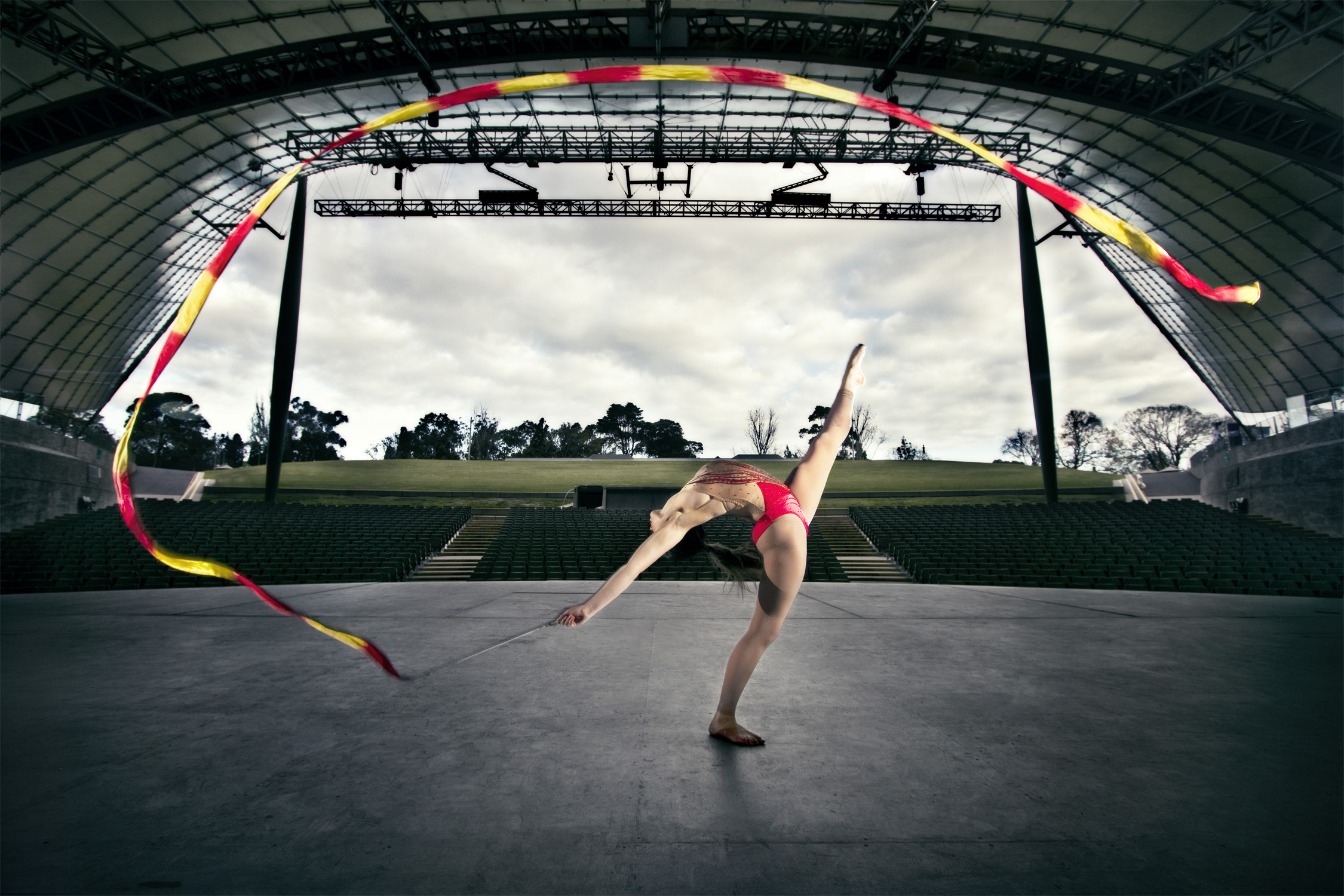Above Rhythmic Gymnast and International Performer  Lauren Skopal  who developed the FLEX-PRO Method.