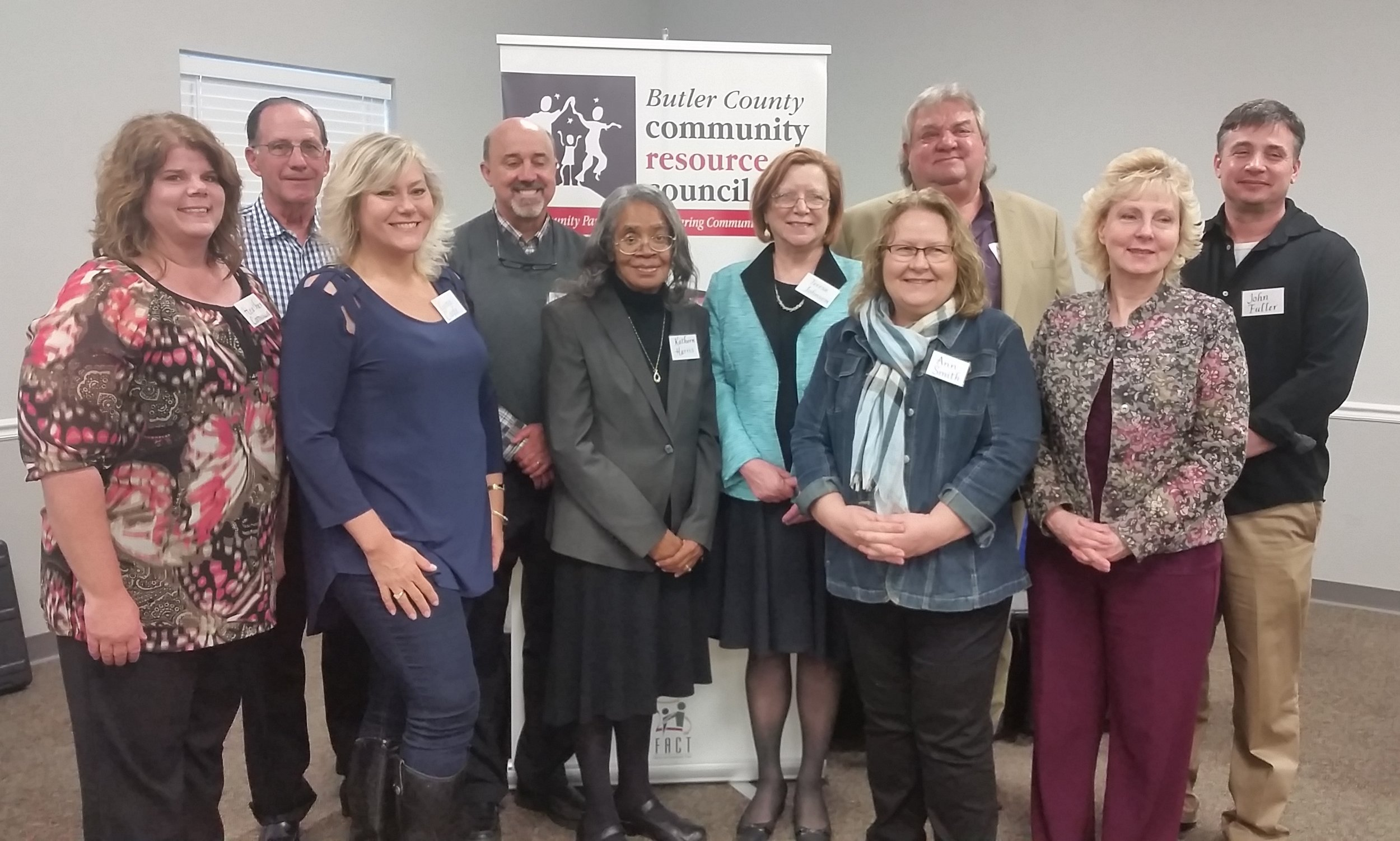 Heather Cornman, Lonnie Taylor, Treasurer, Gina Cagle, Byron Beck, Vice-President, Kathern Harris, Teresa Johnson, President, Ann Smith, Secretary, Austin Montague, Diana Duff and John Fuller. Not pictured, Jeff Rolland, Dr. Cynthia Brown and Ed DeGaris.