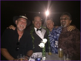 Henry Torres '70, Kalai Balutski '83, Brad Buffett '83 and Harvey Torres '68