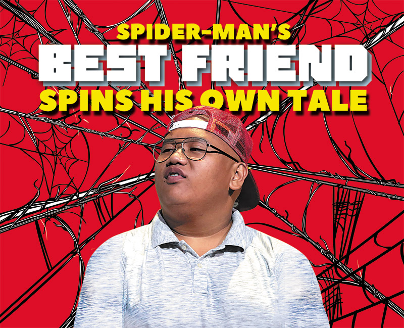 """Local boy Jacob Batalon is on the cusp of a breakthrough thanks to a role in Marvel's """"Spider-Man: Homecoming"""". But the Damien grad sees bigger things on the horizon. Photo by Gage Skidmore   Illustration by Mark Galacgac"""