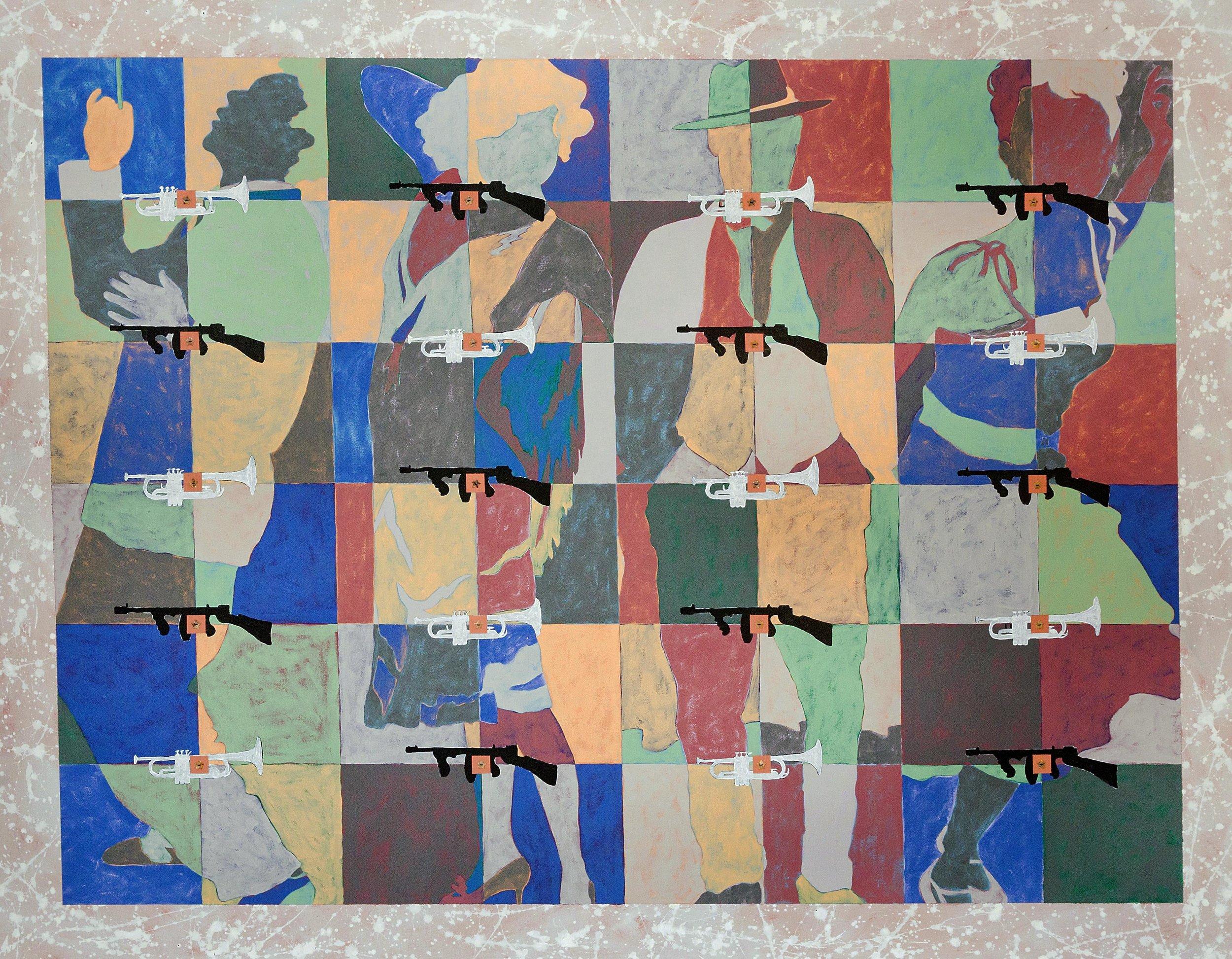 """SPEAKEASY - 56"""" x 72"""" - 2015"""
