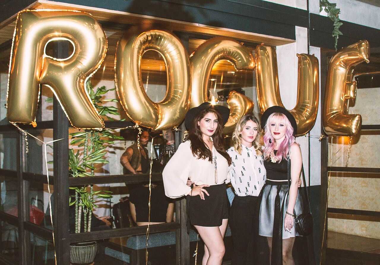 Rogue's Marketing Director Sarah Portillo, Music Editor Lauren Hoover & EIC Heather Seidler