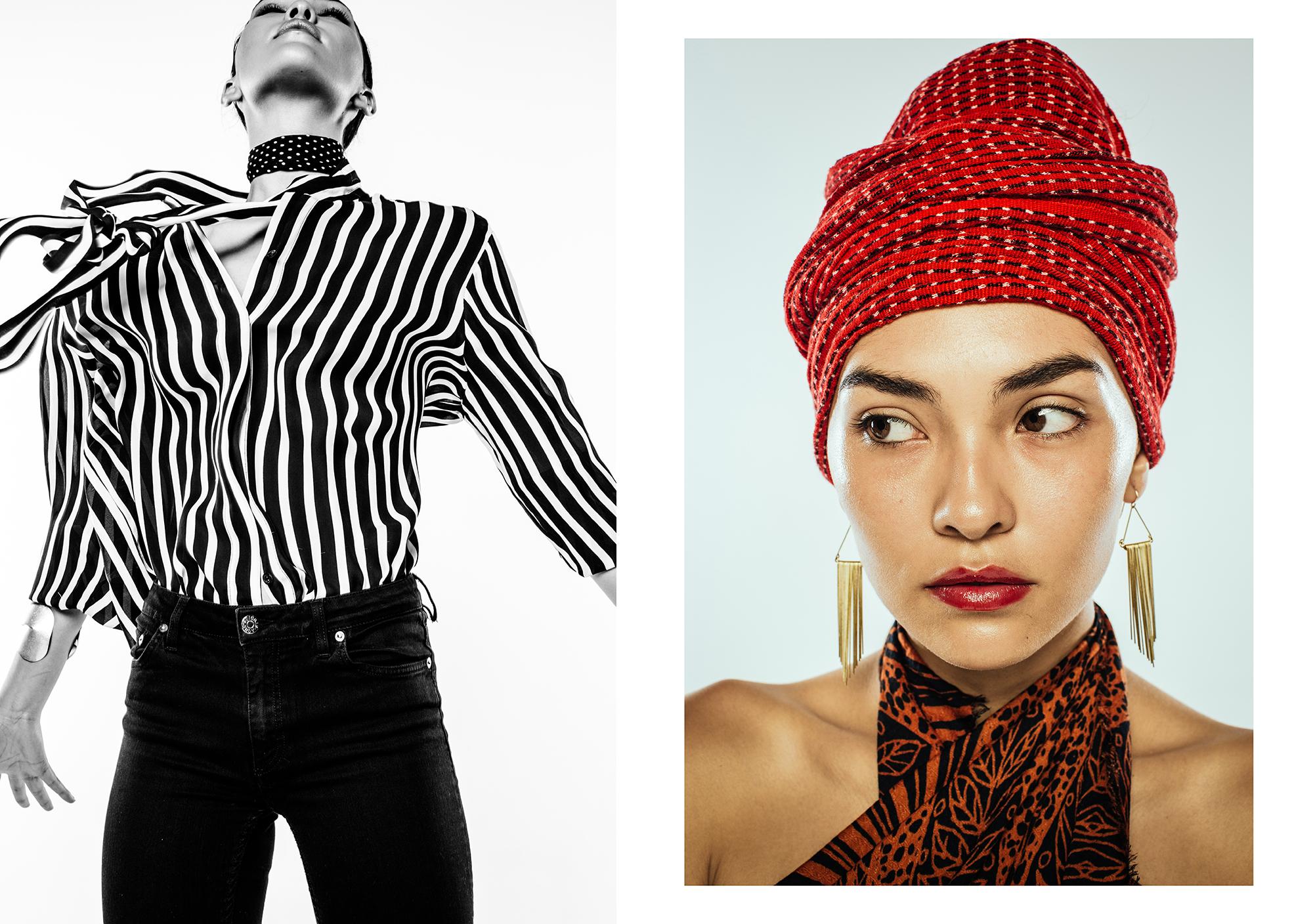 Left:Top & Pants: Zara Right: Top: Zara