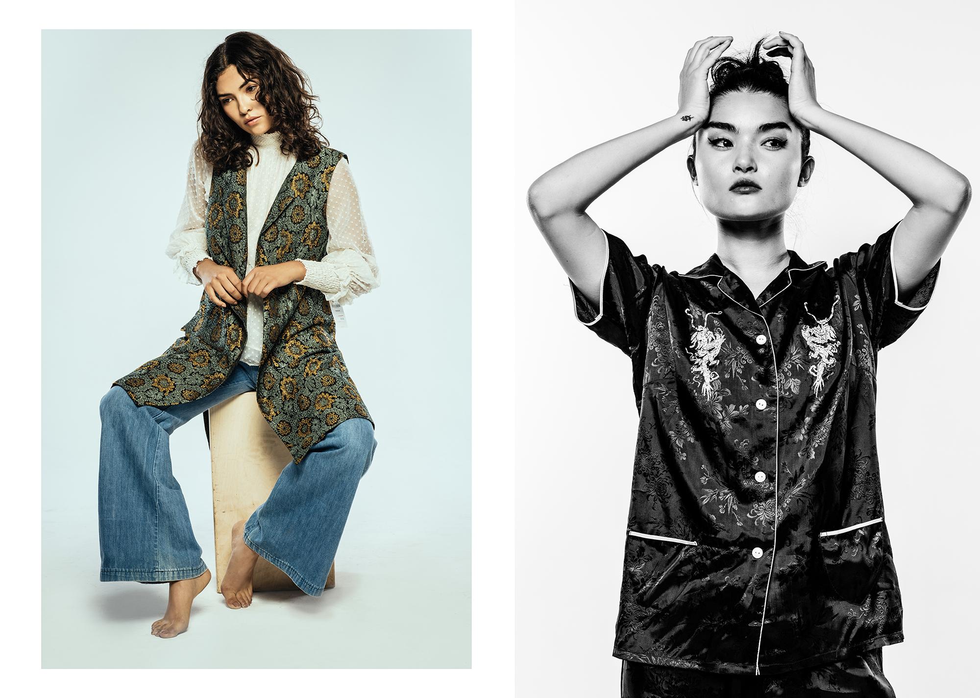 Left:Vest & Blouse: Zara Right:Top: Zara