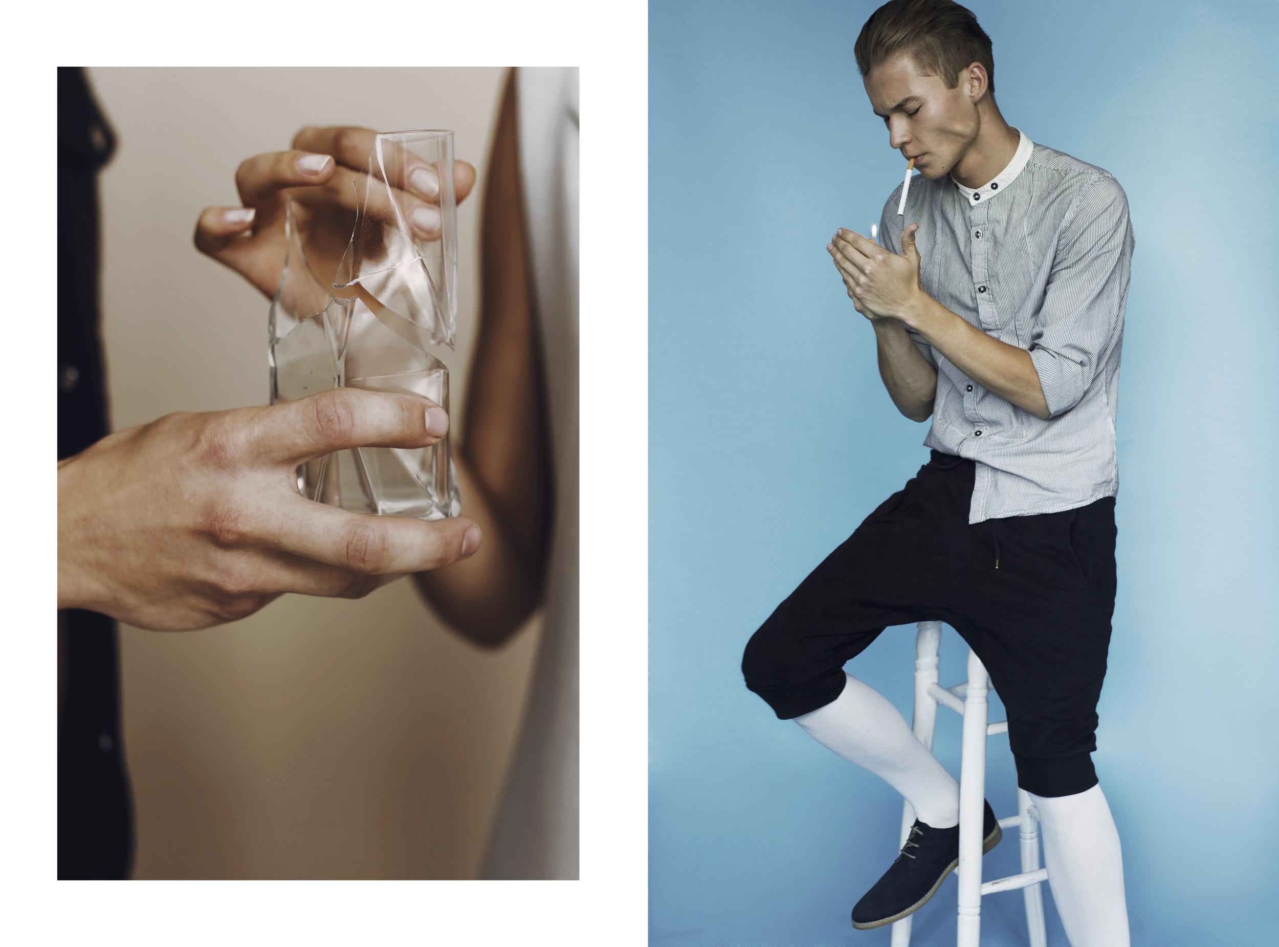 Shirt:  Giacomo Conti / Pants:  Synthetic / Socks:  Vintage / Shoes : H&M