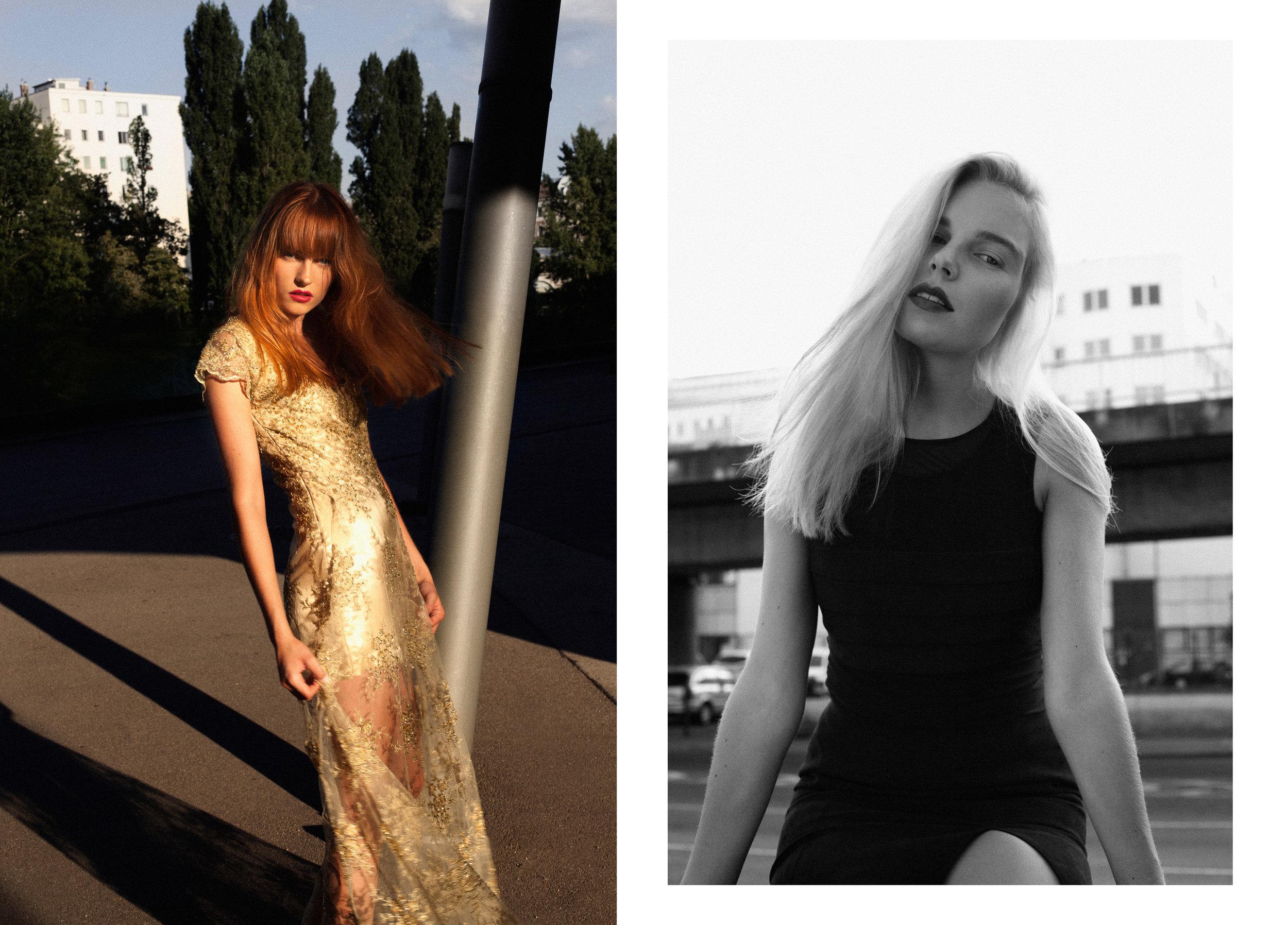 Left / Dress: Elisa Malec Right / Dress: Segolene De Witt
