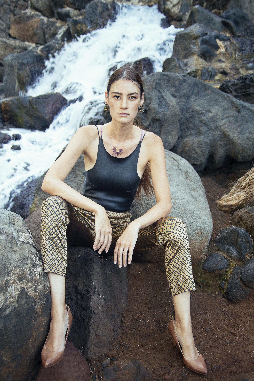Top : S.I.E. Swimwear /  Pants : Manaola Hawaii /  Jewelry : Salty Girl