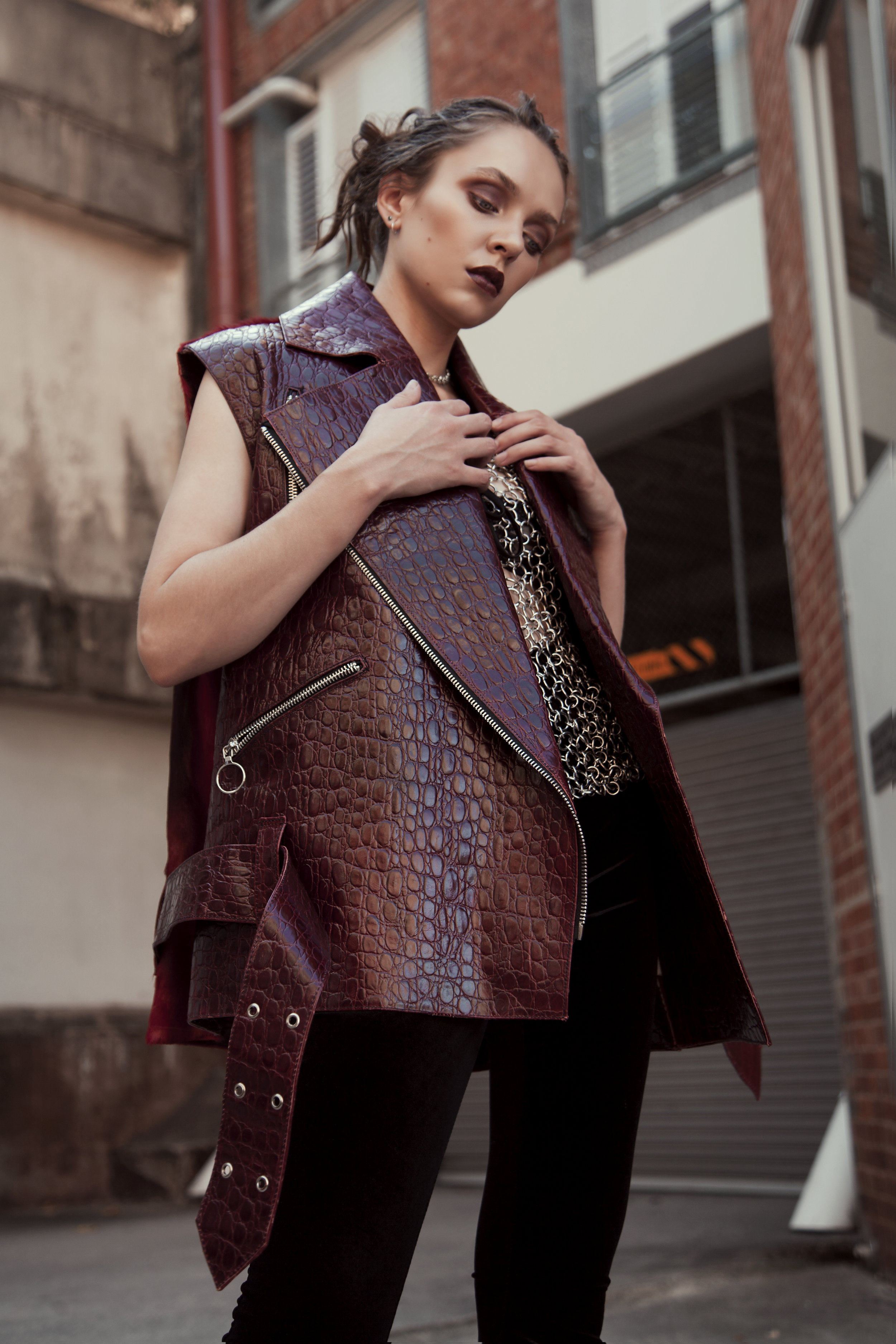 Top: Stephanie Schafer / Vest: Zephyr Collection / Pants: Verge Girl / Shoes: Current MoodChoker: Nat Kent
