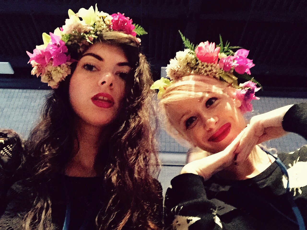 Paiko Flower Crowns made by Aysha & Heather