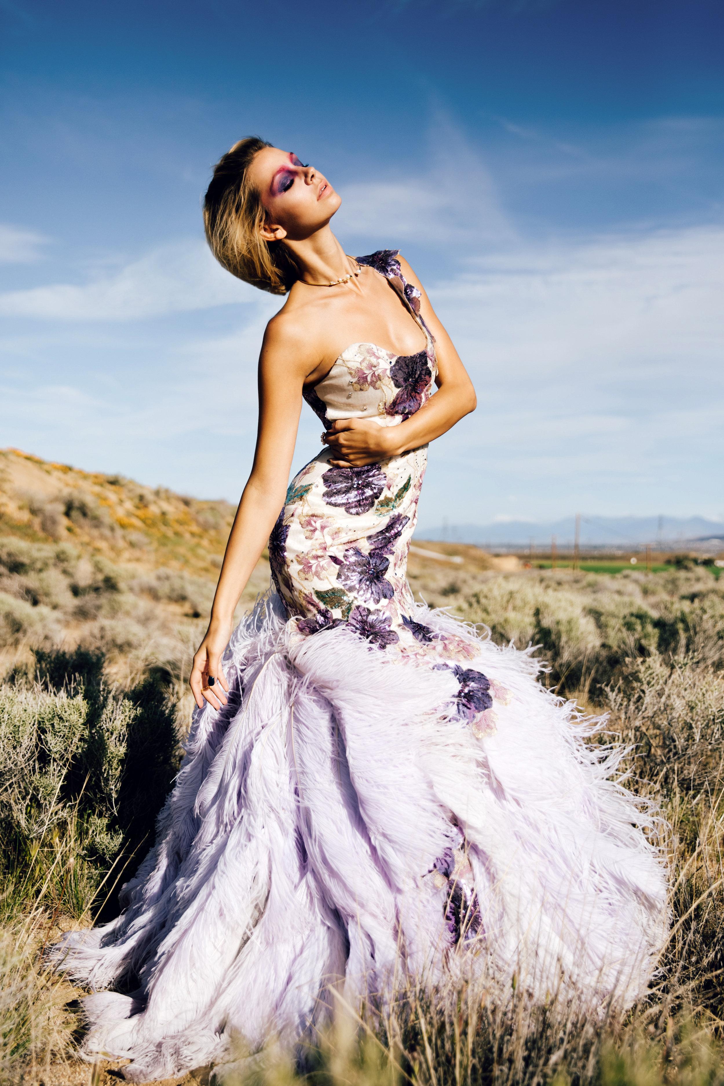 Dress: Joey Galon / Necklace & Ring: Gold Philosophy