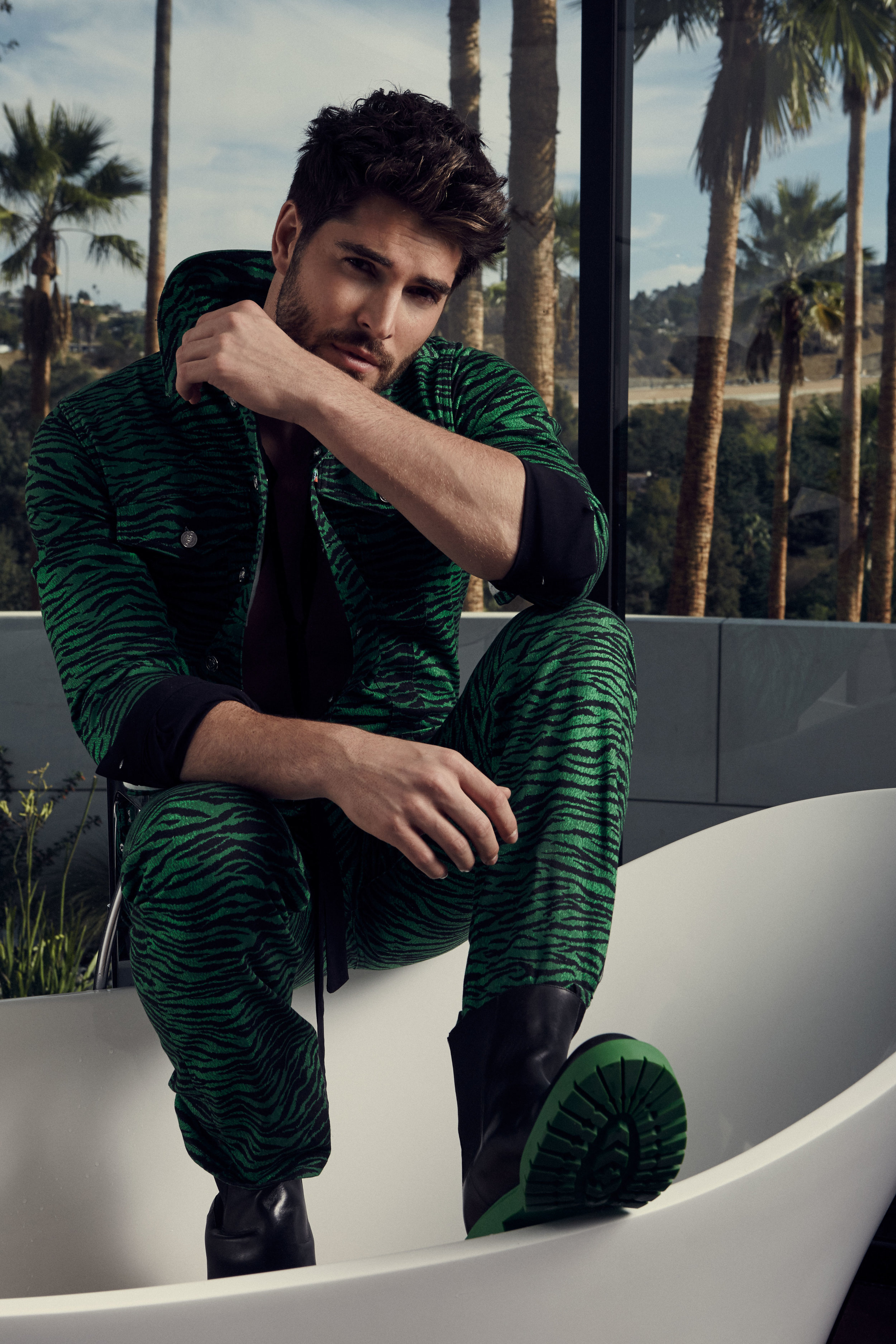 Jumpsuit & Shoes by Kenzo for H&M / Shirt by ASOS