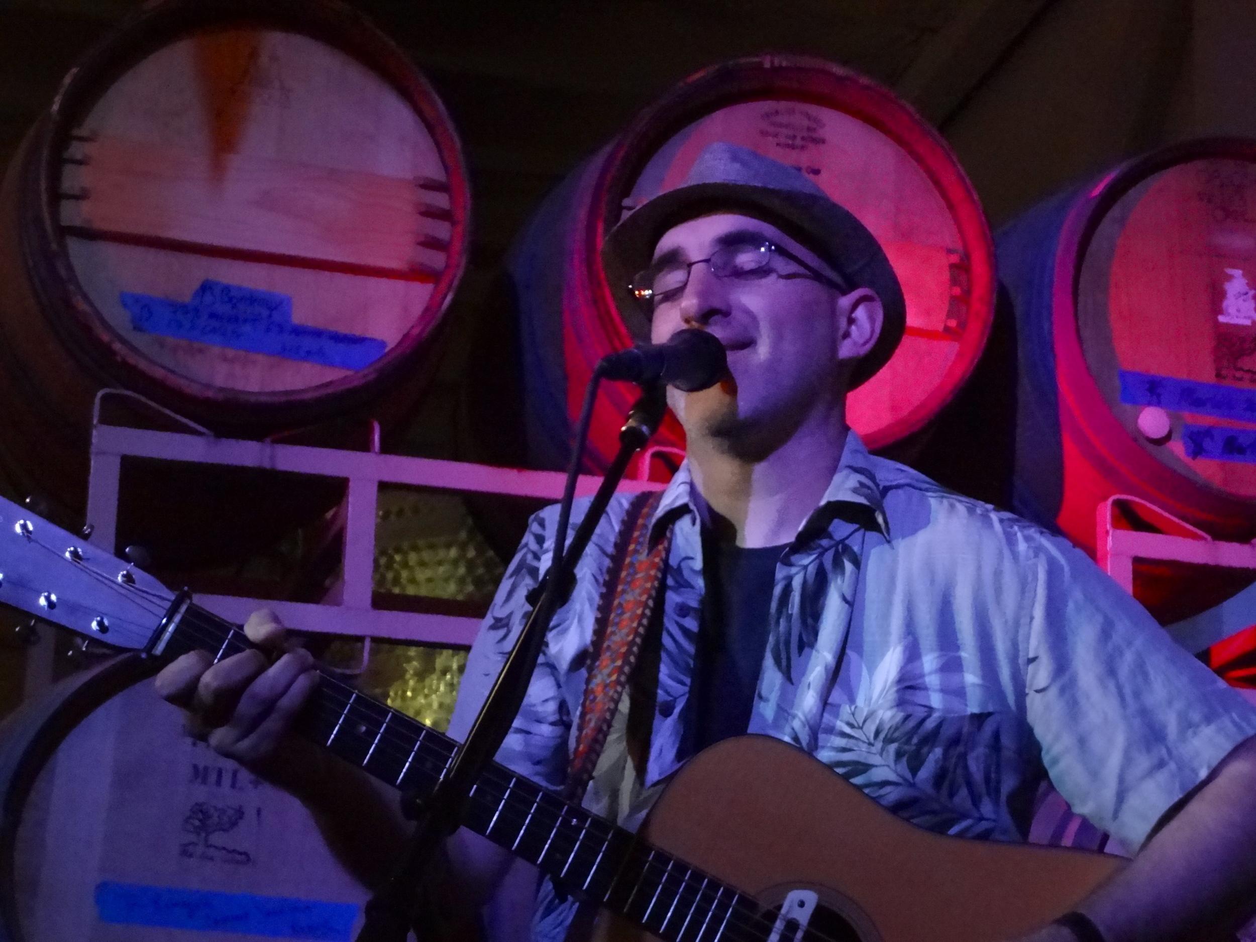 Dan Frechette  at Wine and Song in Pasadena.