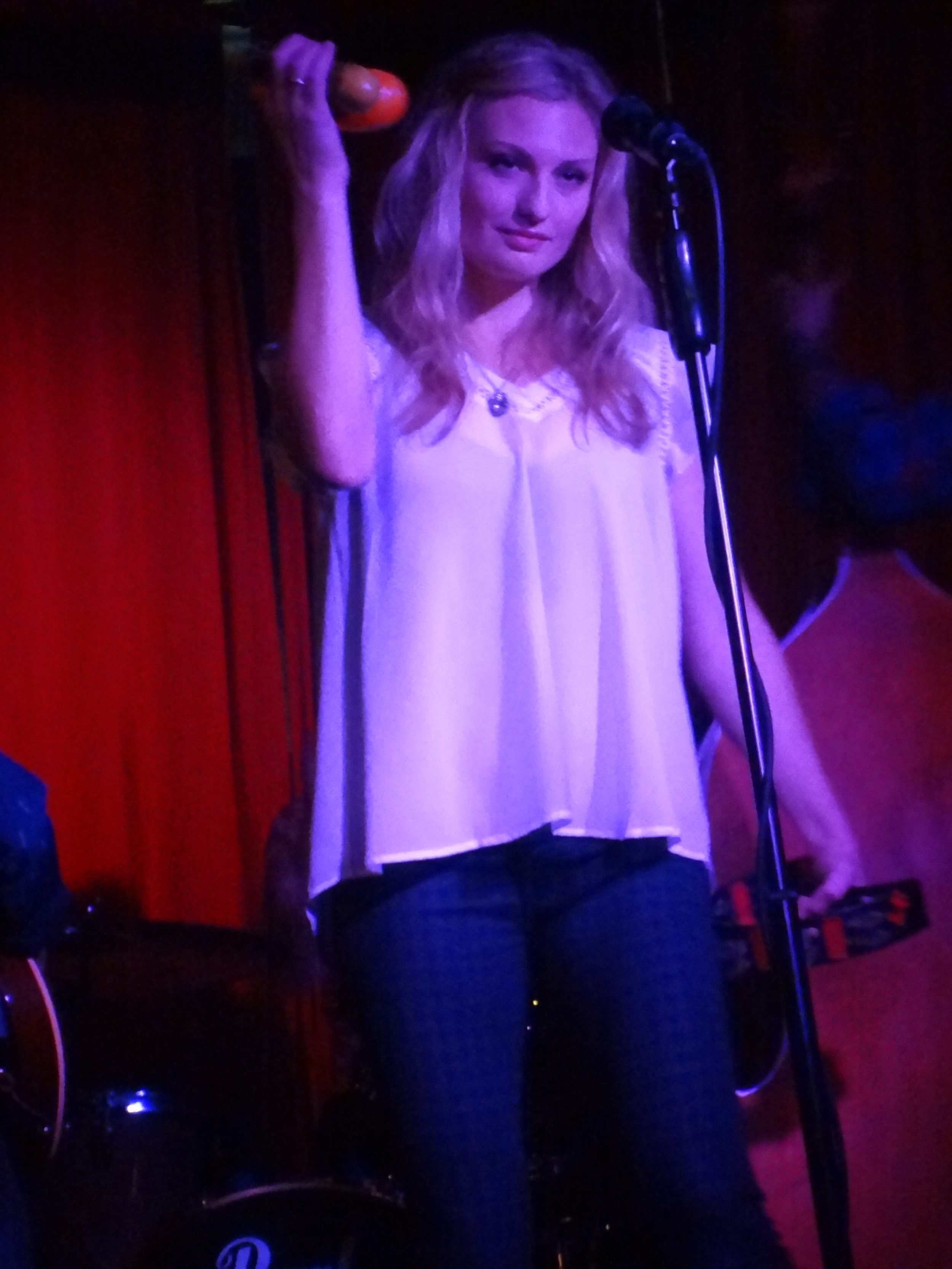 Anna Hanson from  Sound of Ghosts  at The Trip in Santa Monica. Photo by Cynthia Brando