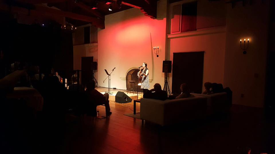 Performing in Santa Monica.