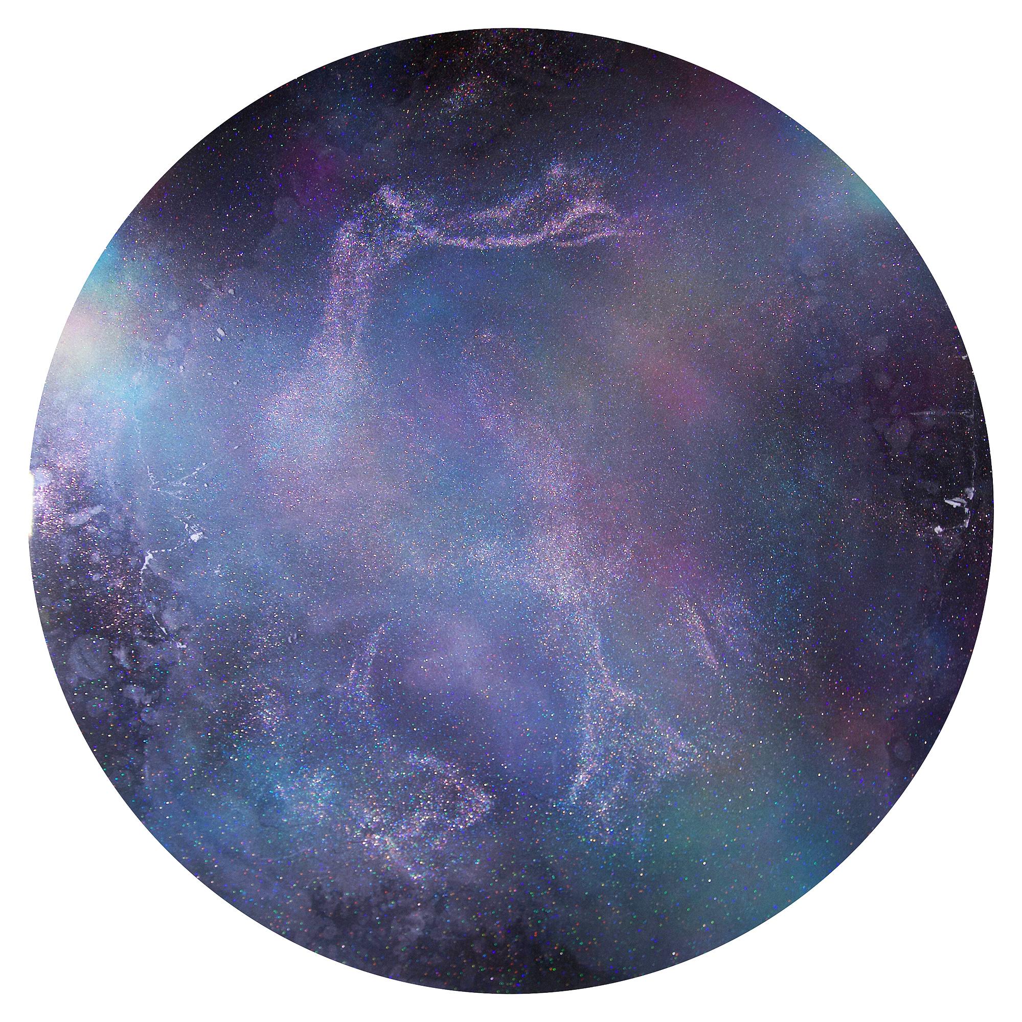 "Artwork diameter 90cm (35.4"") SOLD"