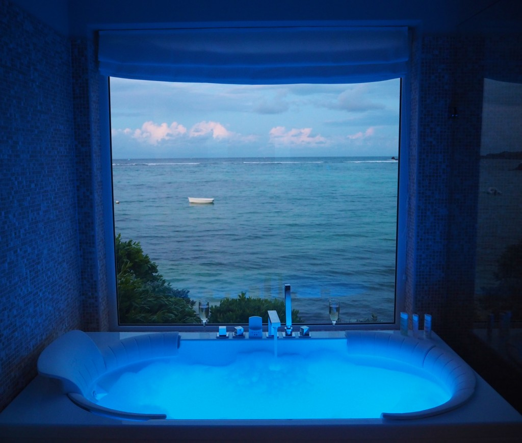 Blue bath, Le Guanahani Boutique Hotel, St Barths.