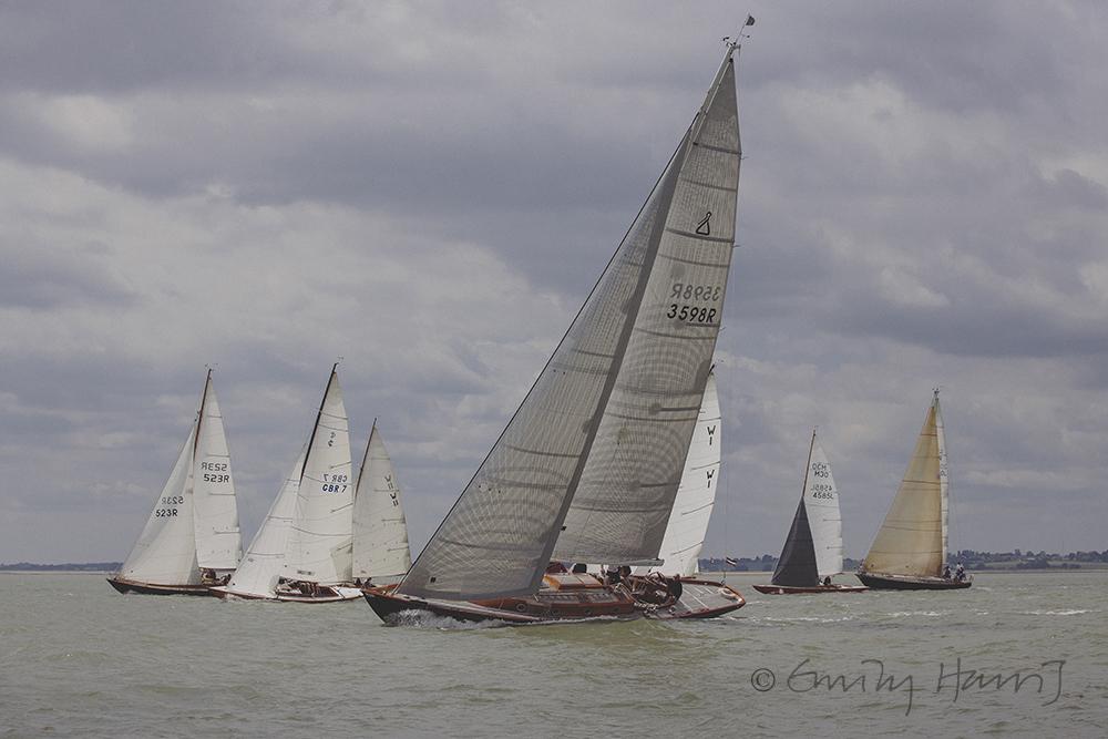 Classic yacht racing regatta from Levington, Suffolk
