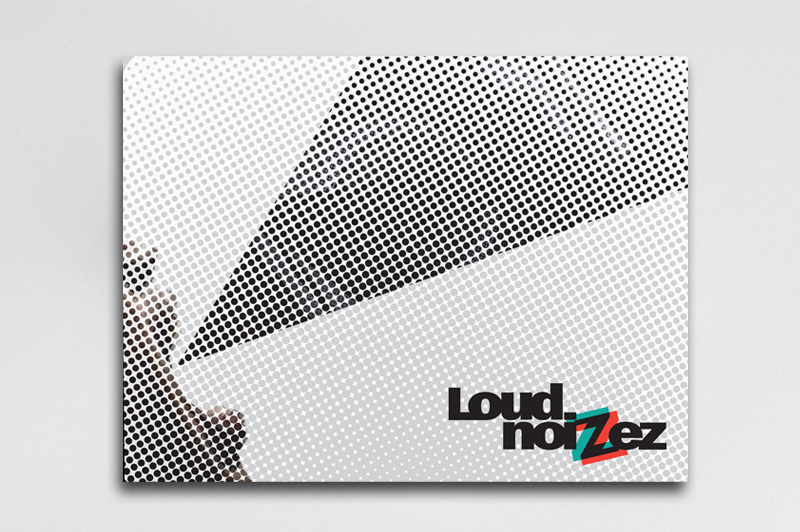 Poster design, the dot represent distortion at Loud Noise levels