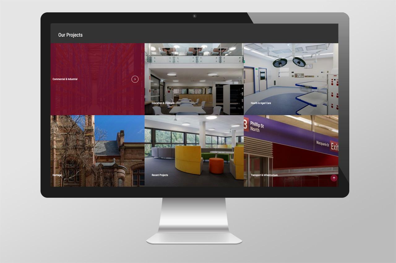 Website design – Gallery Page