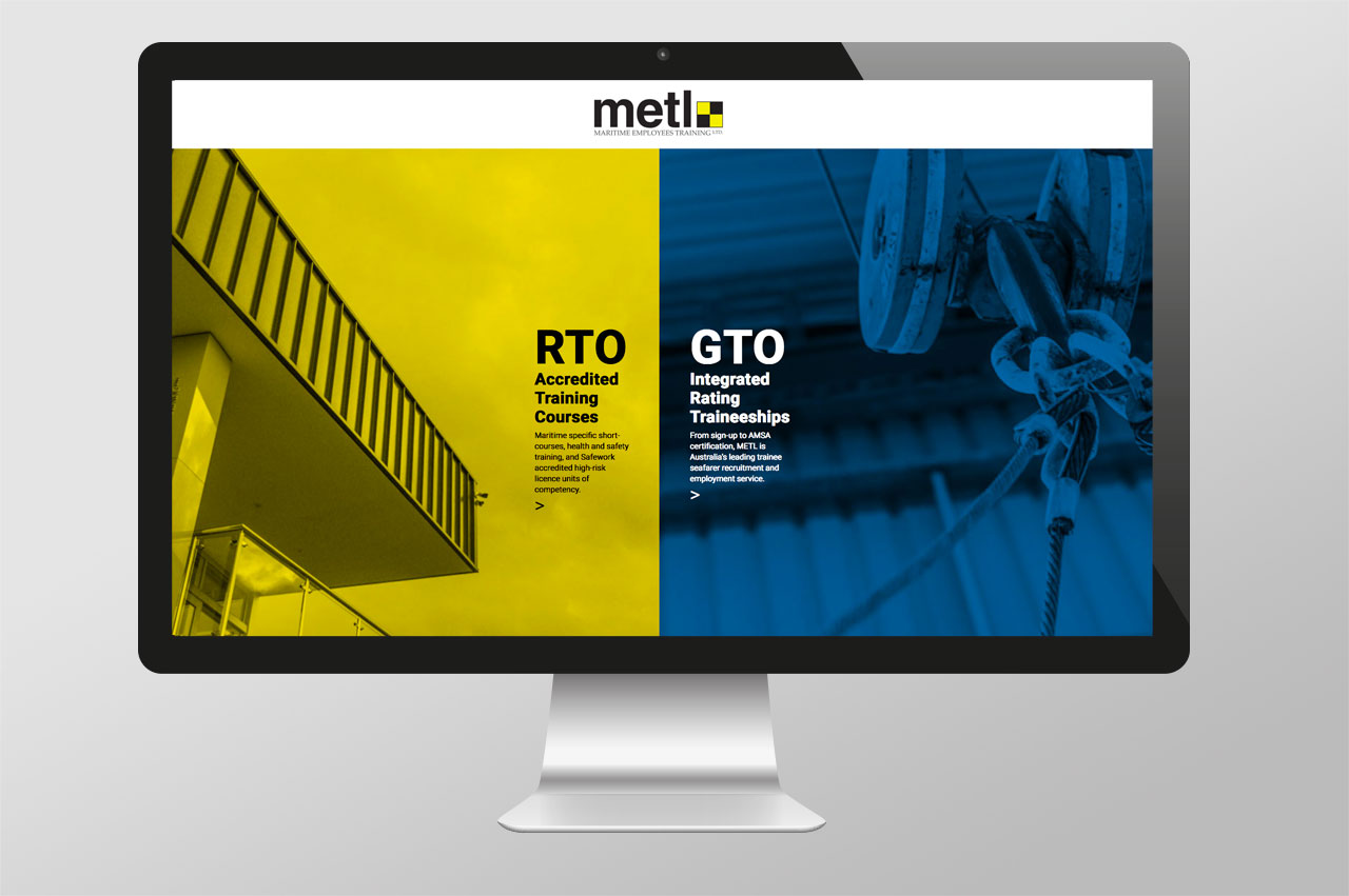Home Page – option to enter either RTO or GTO website