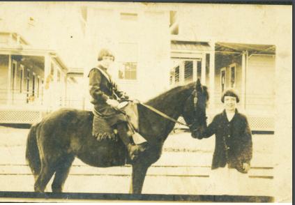 Keenan and John Blanchard (on horse) circa 1914.