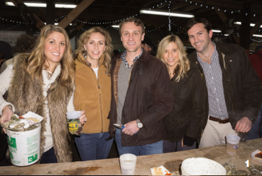 Allison Forster, Callie Campbell, Milt Stratos, with Katie and Kirk Shields at the SIFD Oyster Roast